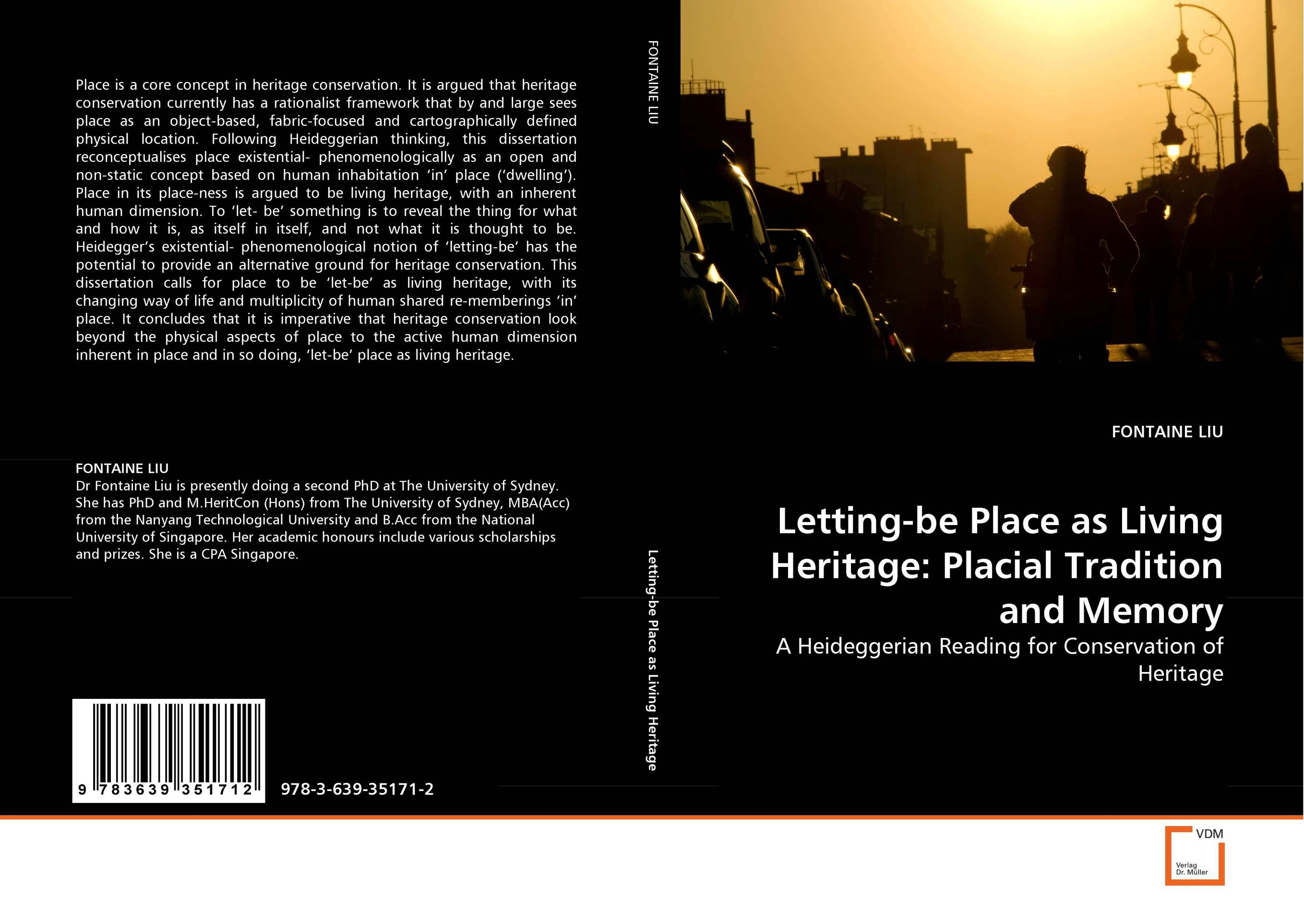 Letting-be Place as Living Heritage: Placial Tradition and Memory living it