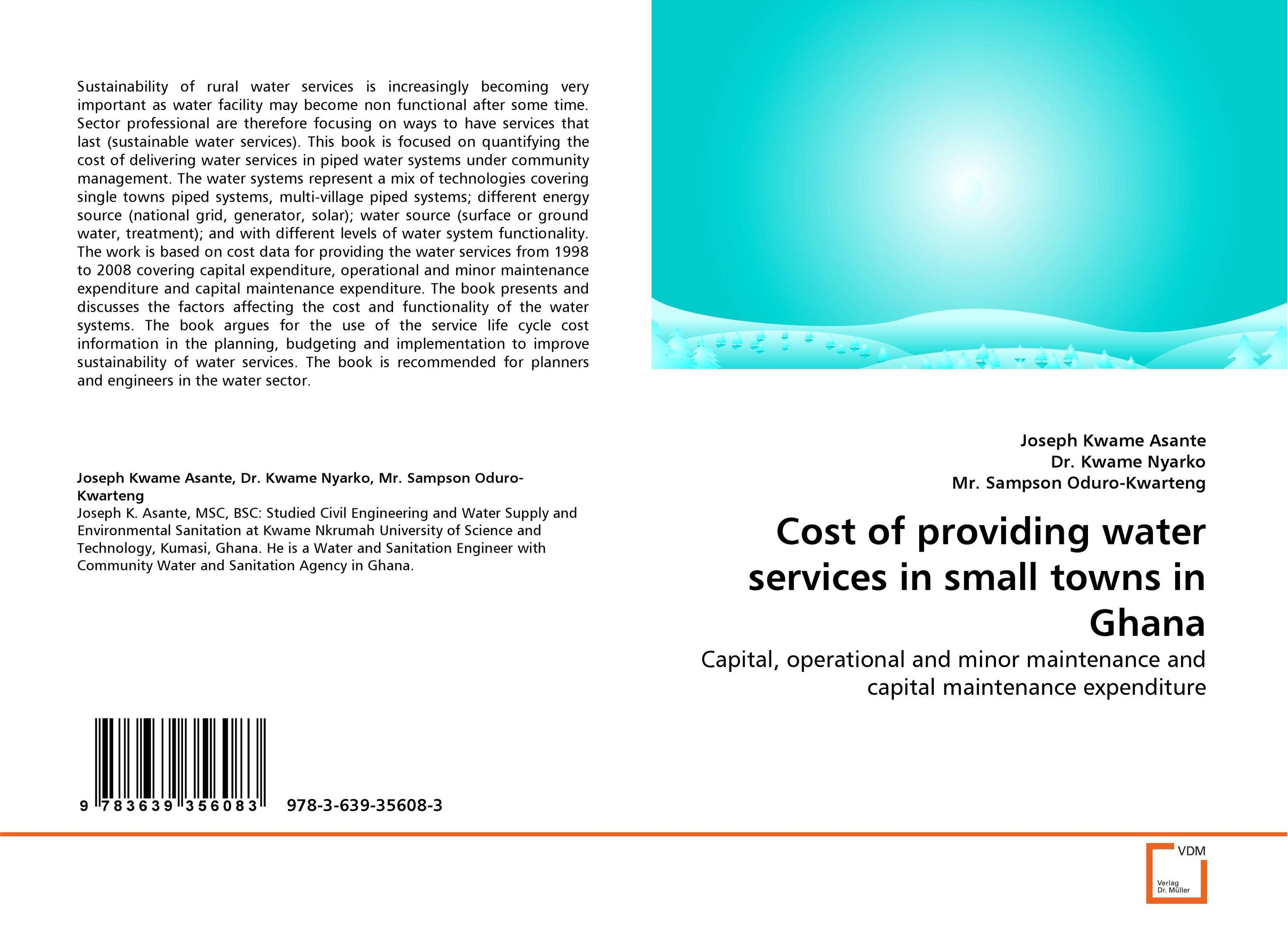Cost of providing water services in small towns in Ghana extra fee cost just for the balance of your order shipping cost