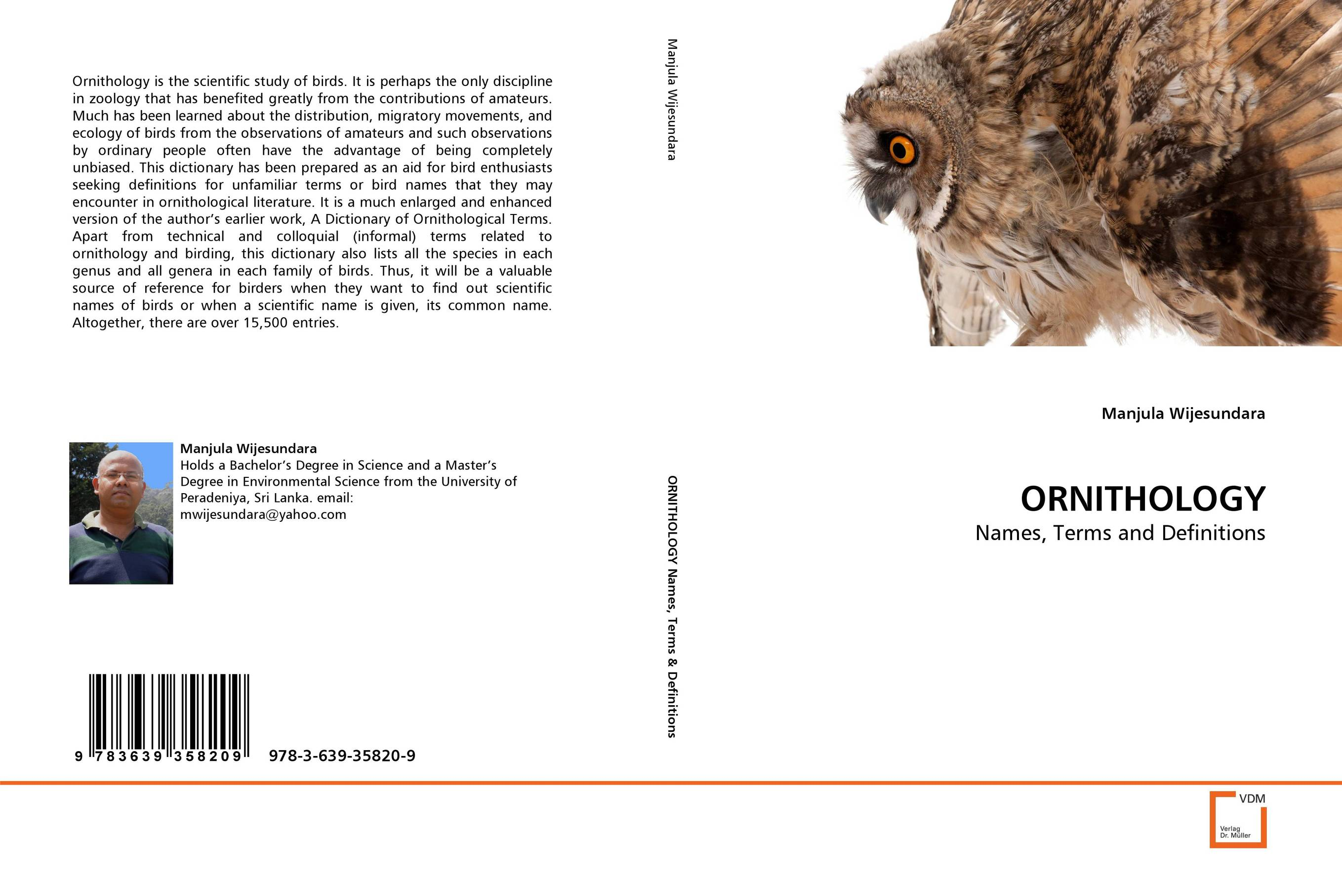 ORNITHOLOGY a dictionary of scientific terms