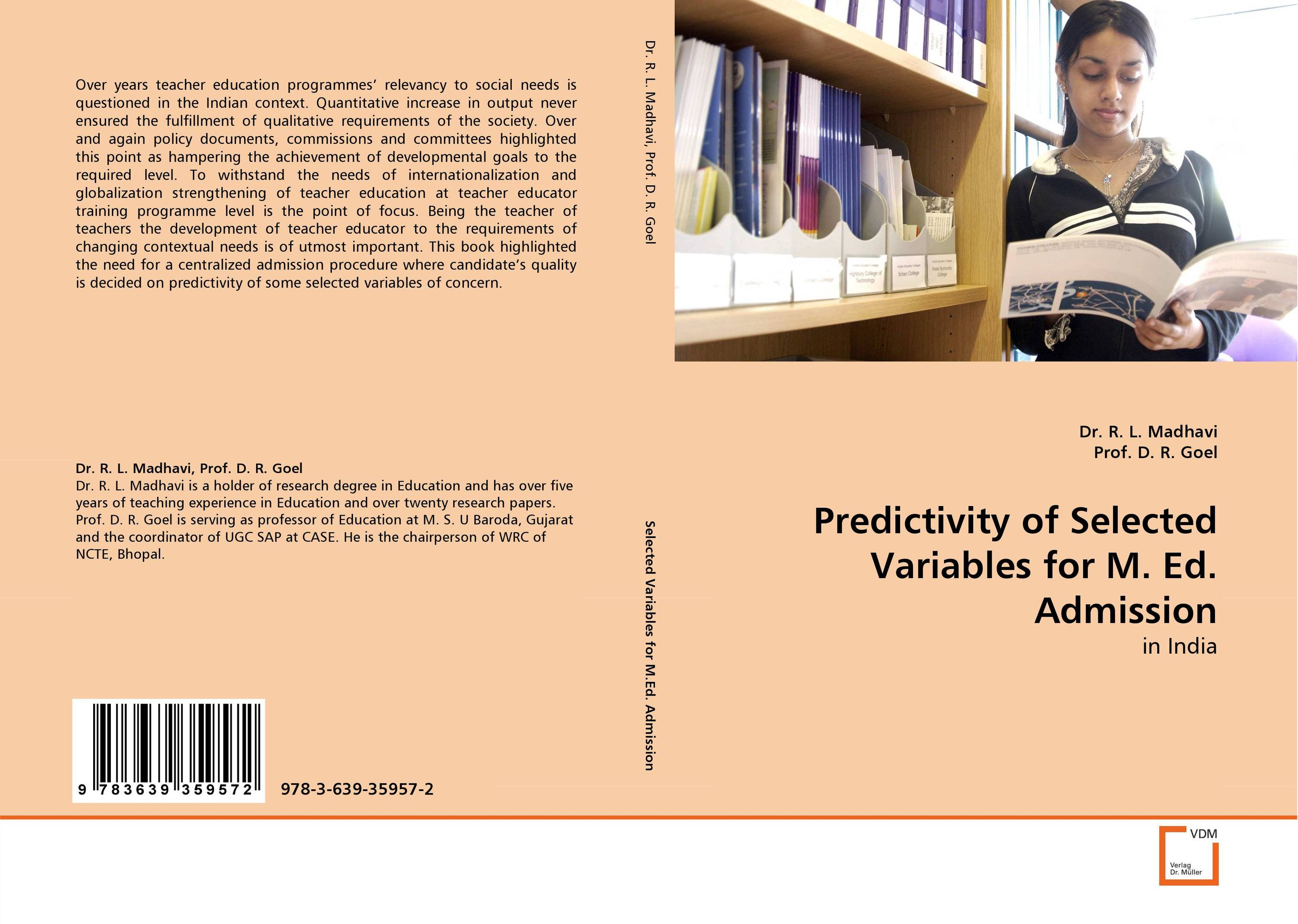Predictivity of Selected Variables for M. Ed. Admission edward fry b the reading teacher s book of lists