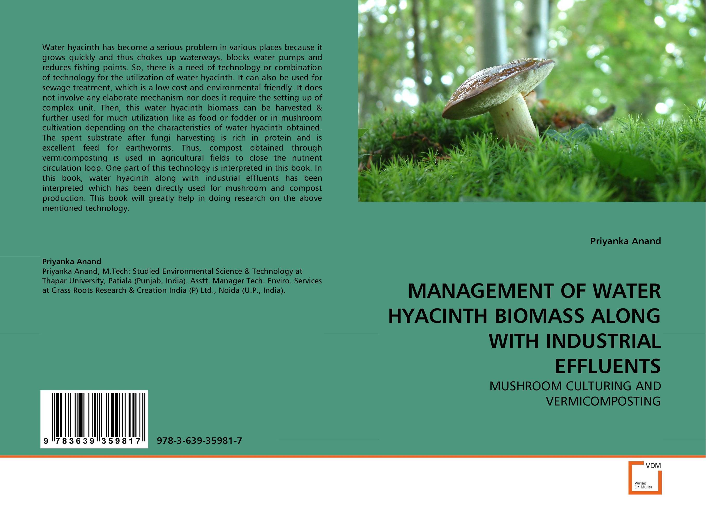 MANAGEMENT OF WATER HYACINTH BIOMASS ALONG WITH INDUSTRIAL EFFLUENTS an evaluation of water hyacinth meal as a feedstuff for pullet chicks