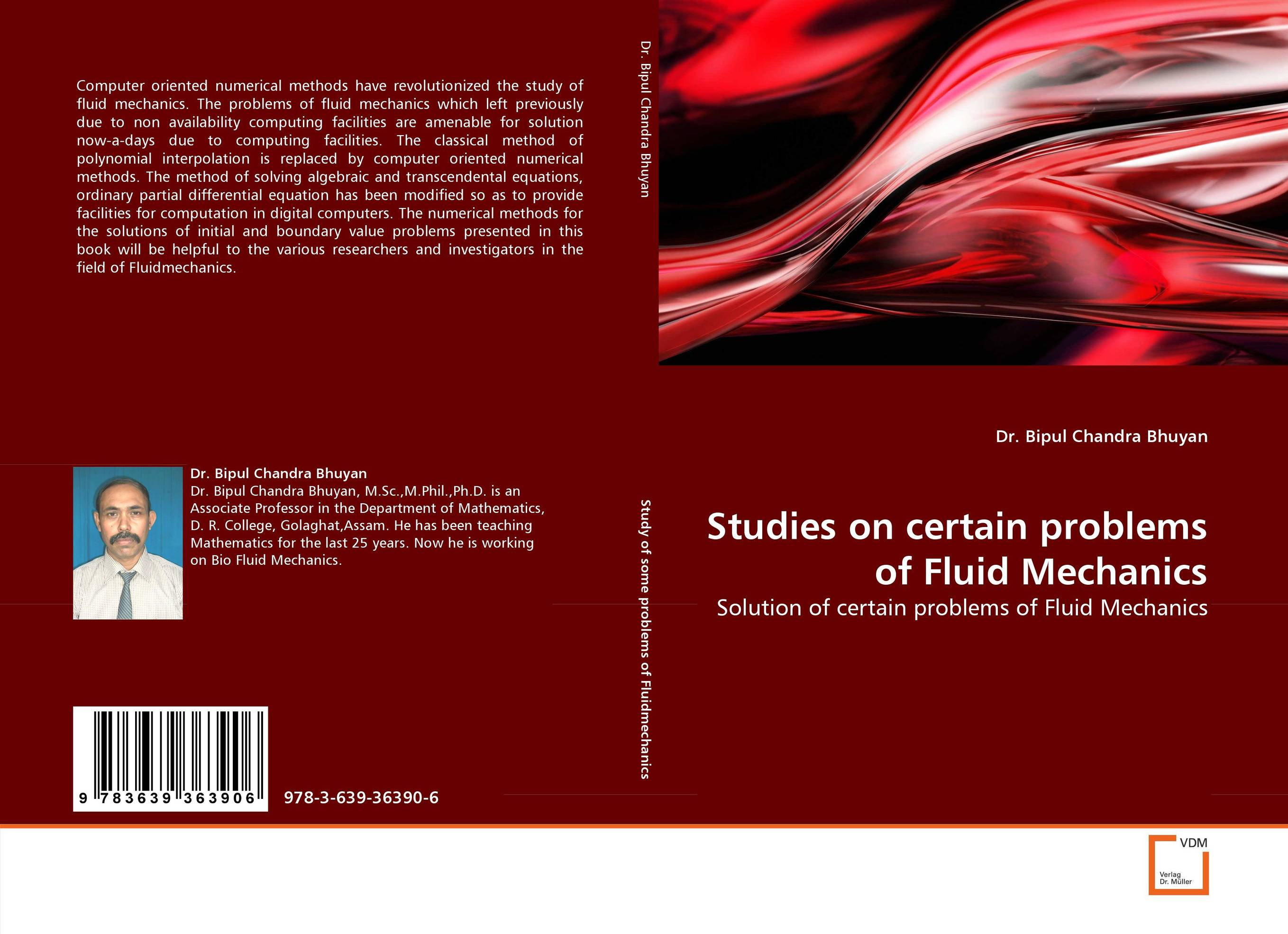 Studies on certain problems of Fluid Mechanics numerical study of dynamic relaxation methods