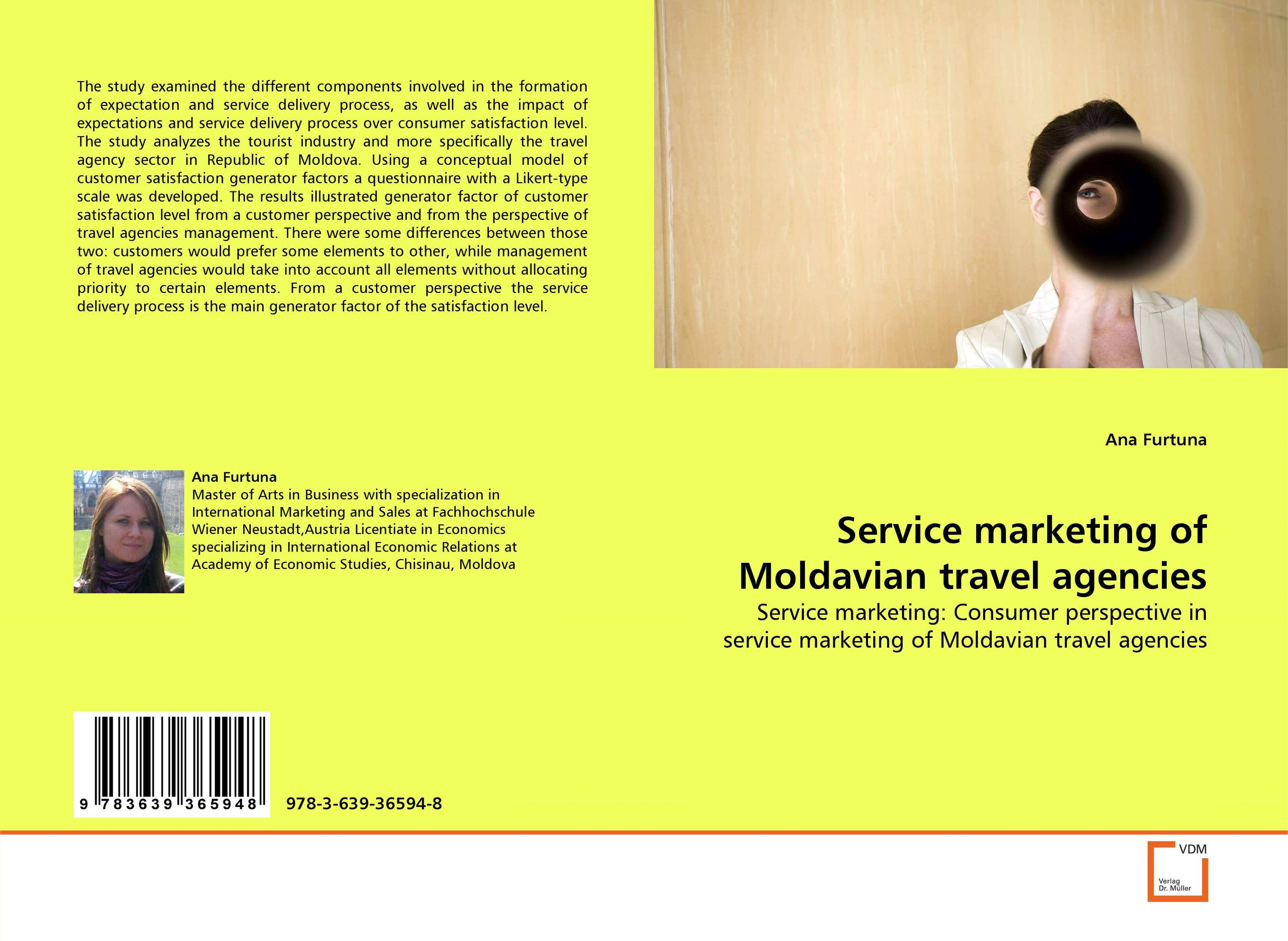 Service marketing of Moldavian travel agencies customer satisfaction with service quality