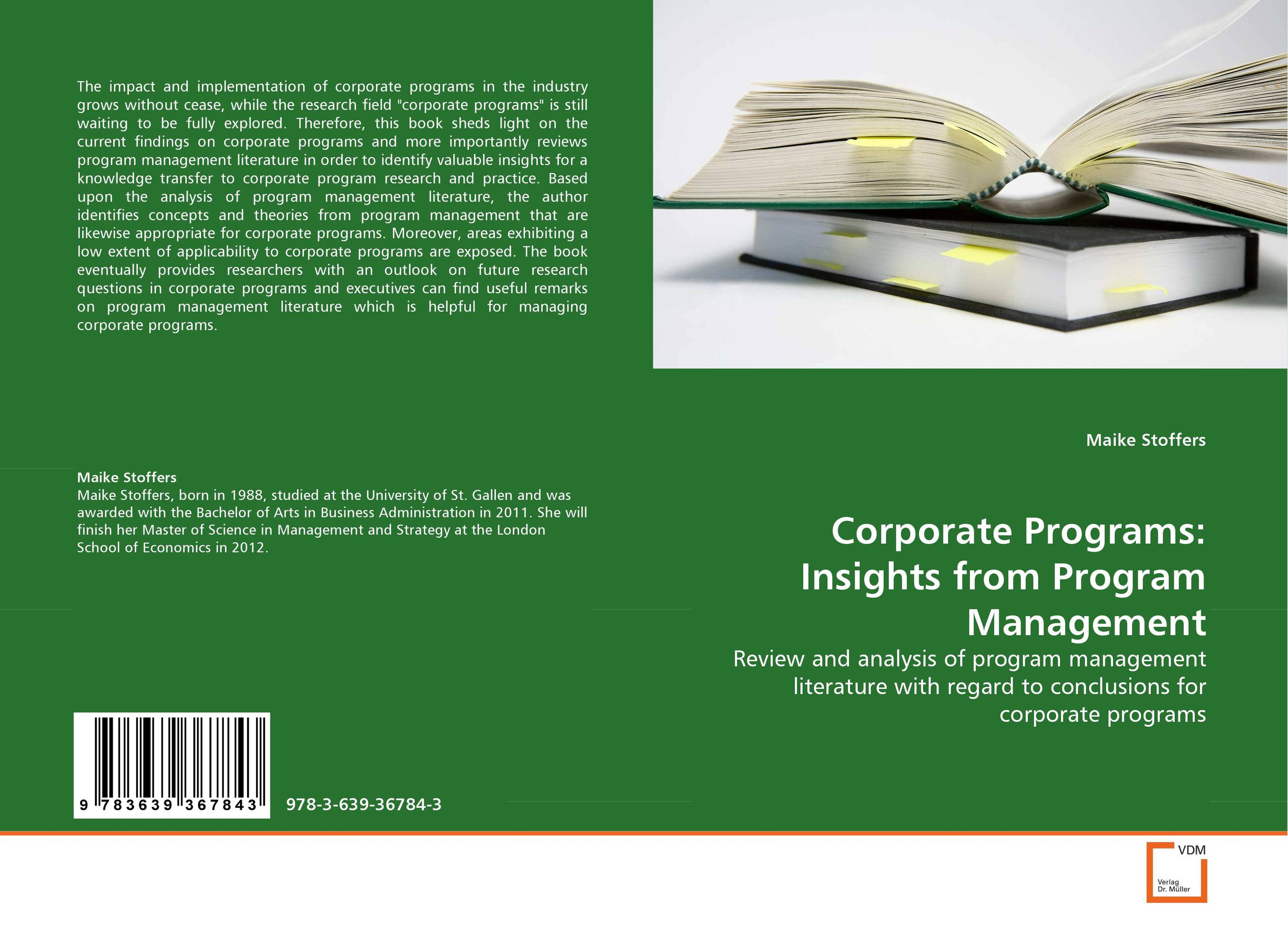 Corporate Programs: Insights from Program Management a decision support tool for library book inventory management