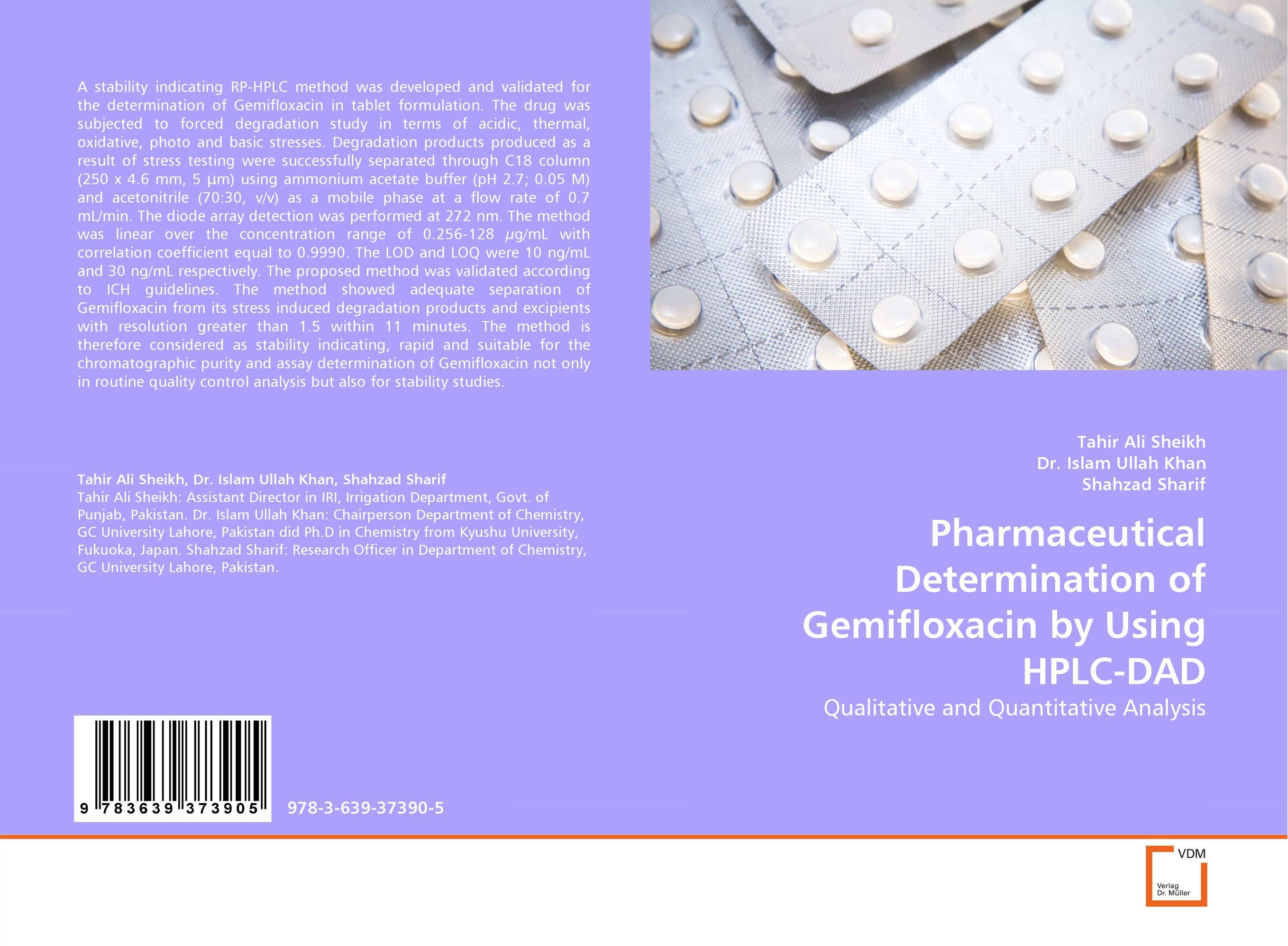 Pharmaceutical Determination of Gemifloxacin by Using HPLC-DAD