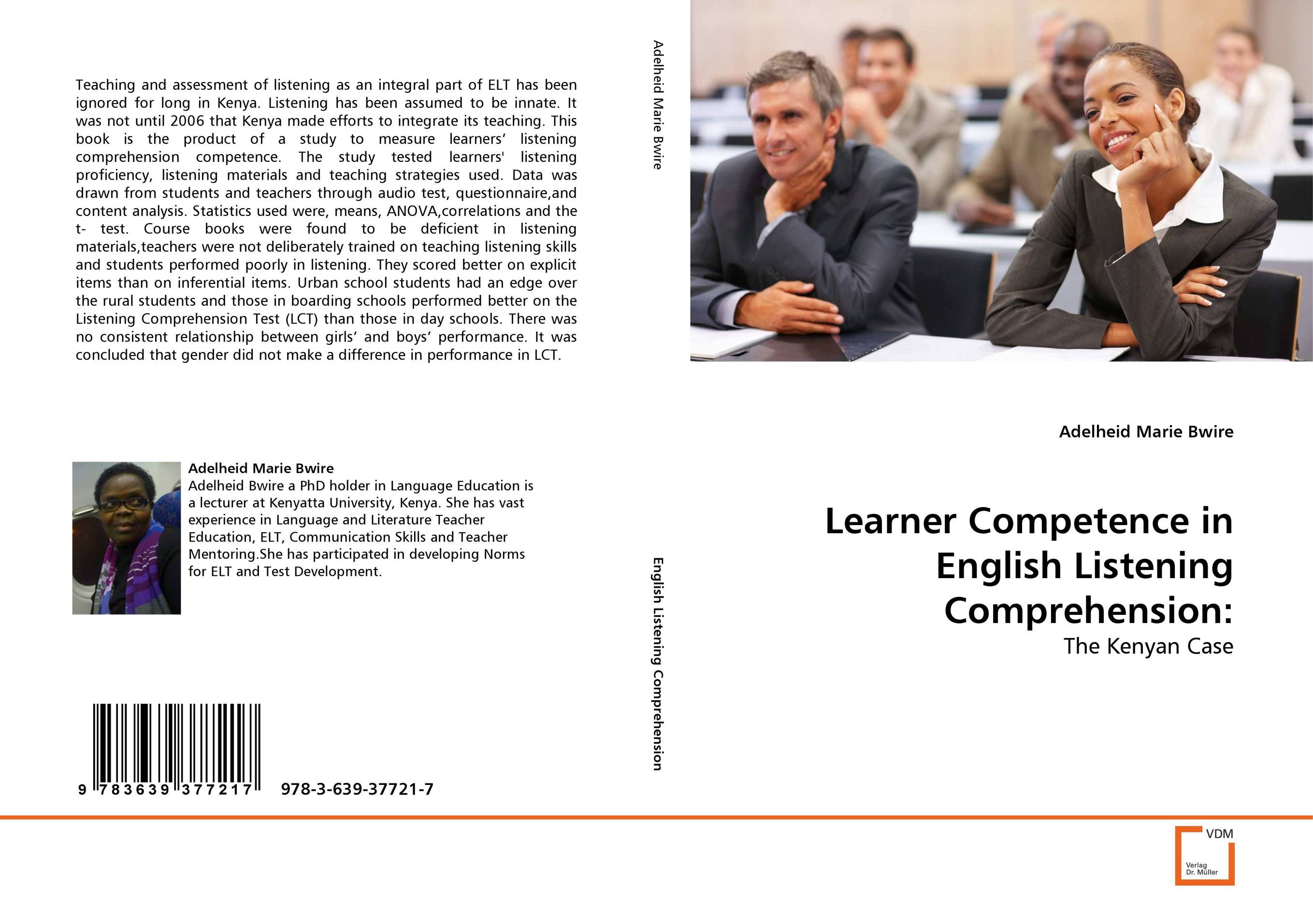 Learner Competence in English Listening Comprehension: teaching mathematics in kenya