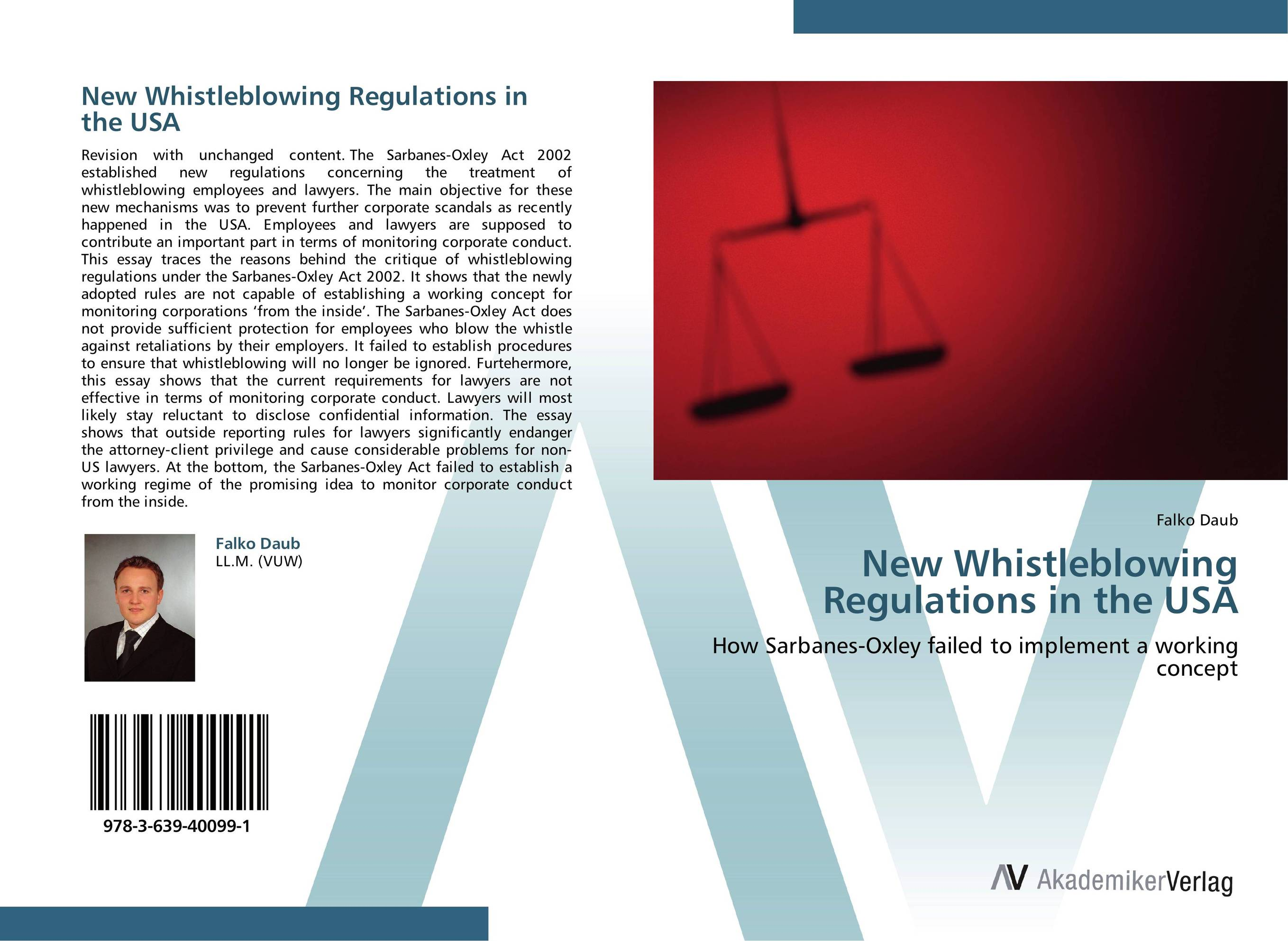 New Whistleblowing Regulations in the USA paul ali international corporate governance after sarbanes oxley
