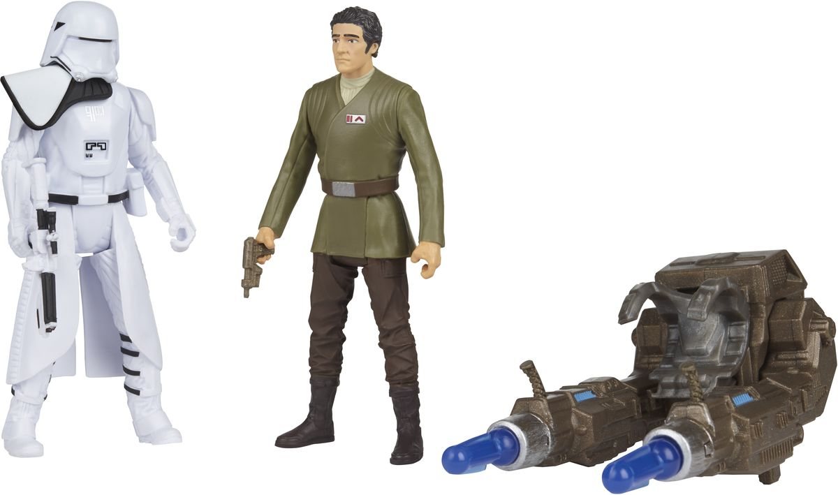 Star Wars Набор фигурок First Order Snowtrooper Officer & Poe Dameron hot wheels star wars набор машинок rey и first order flametrooper