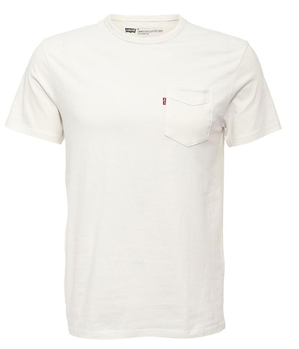 Футболка мужская Levi's®, цвет: белый. 1579800040. Размер L (50) футболка мужская levi s® цвет белый 2 шт 8217600020 размер l 50