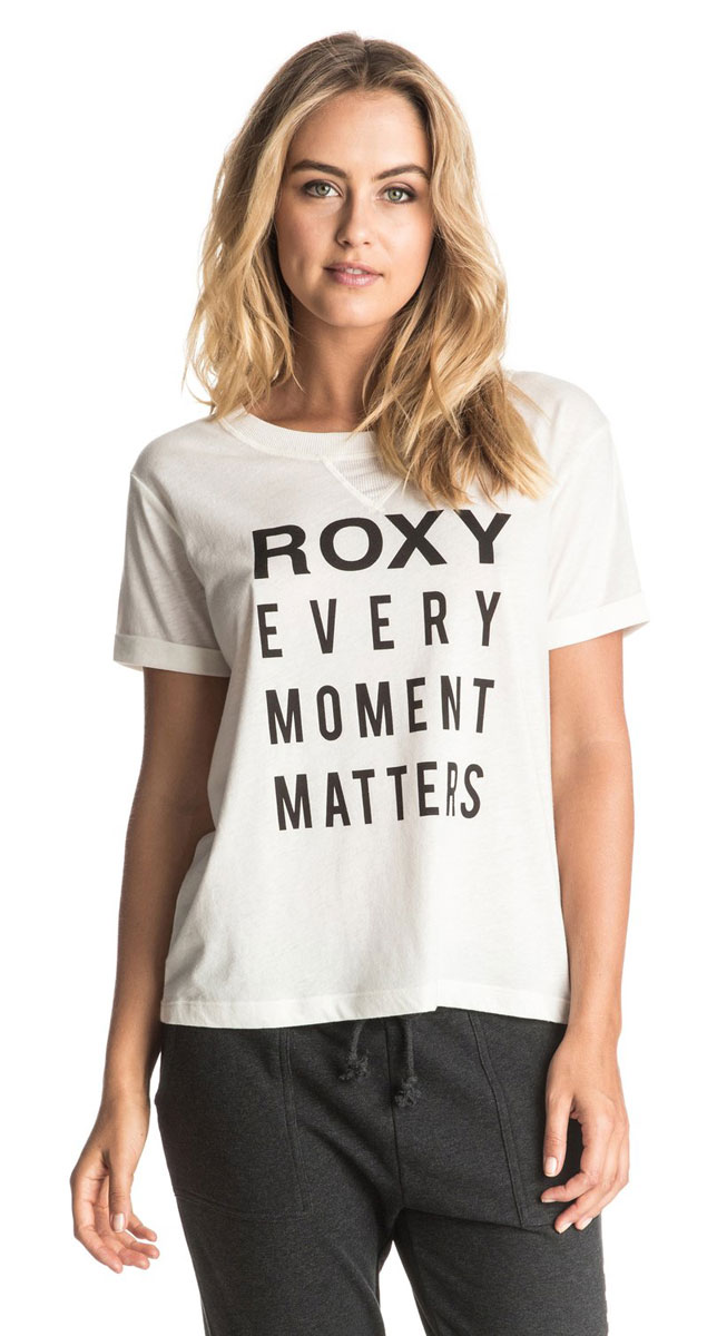 Футболка женская Roxy Minor Swing C, цвет: белый. ERJZT03787-WBT0. Размер XXS (38) футболка женская roxy tulip maison surf цвет серый erjzt03816 sgrh размер 38 xxs