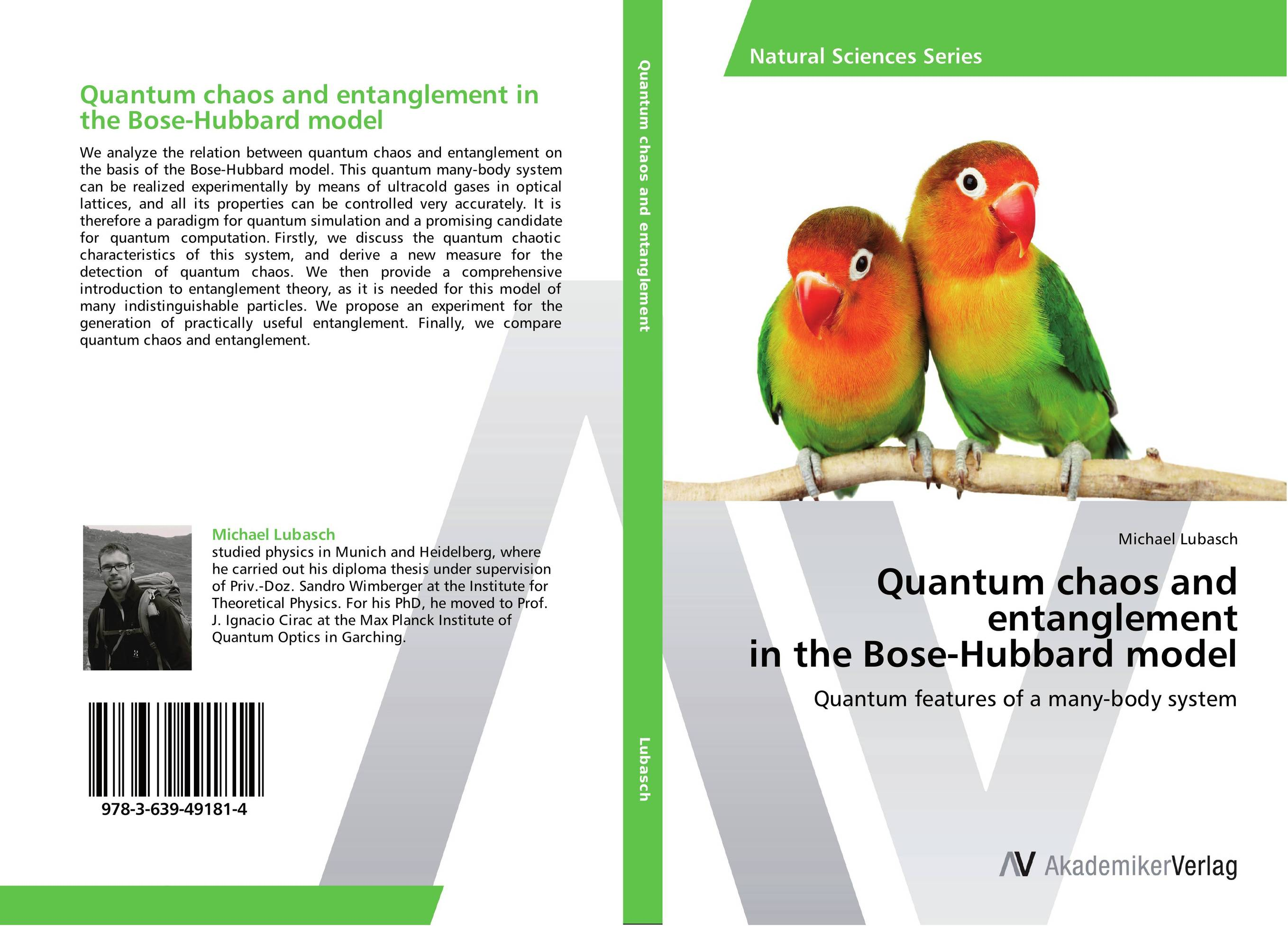 Quantum chaos and entanglement in the Bose-Hubbard model matthew d schwartz quantum field theory and the standard model