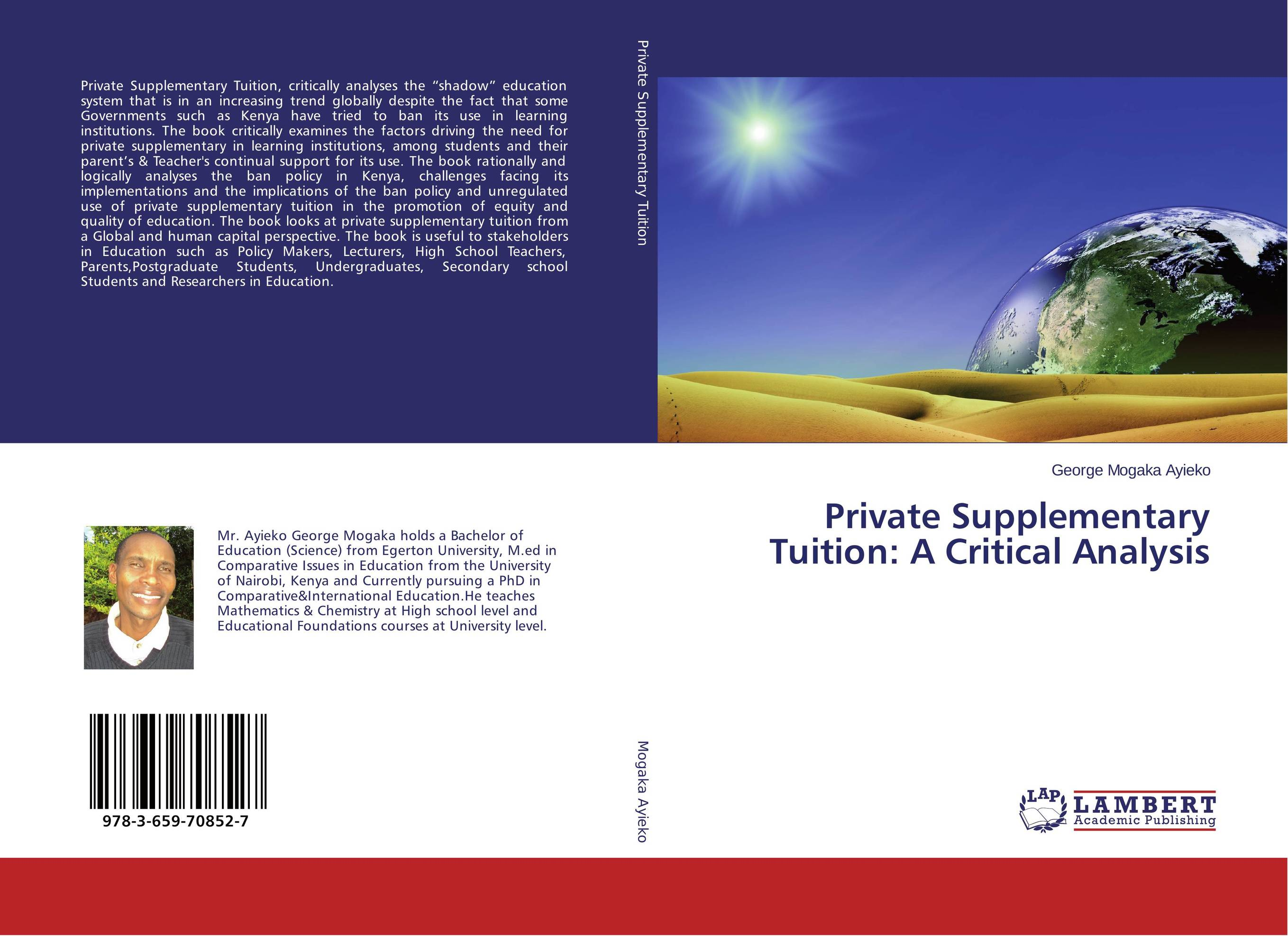 Private Supplementary Tuition: A Critical Analysis