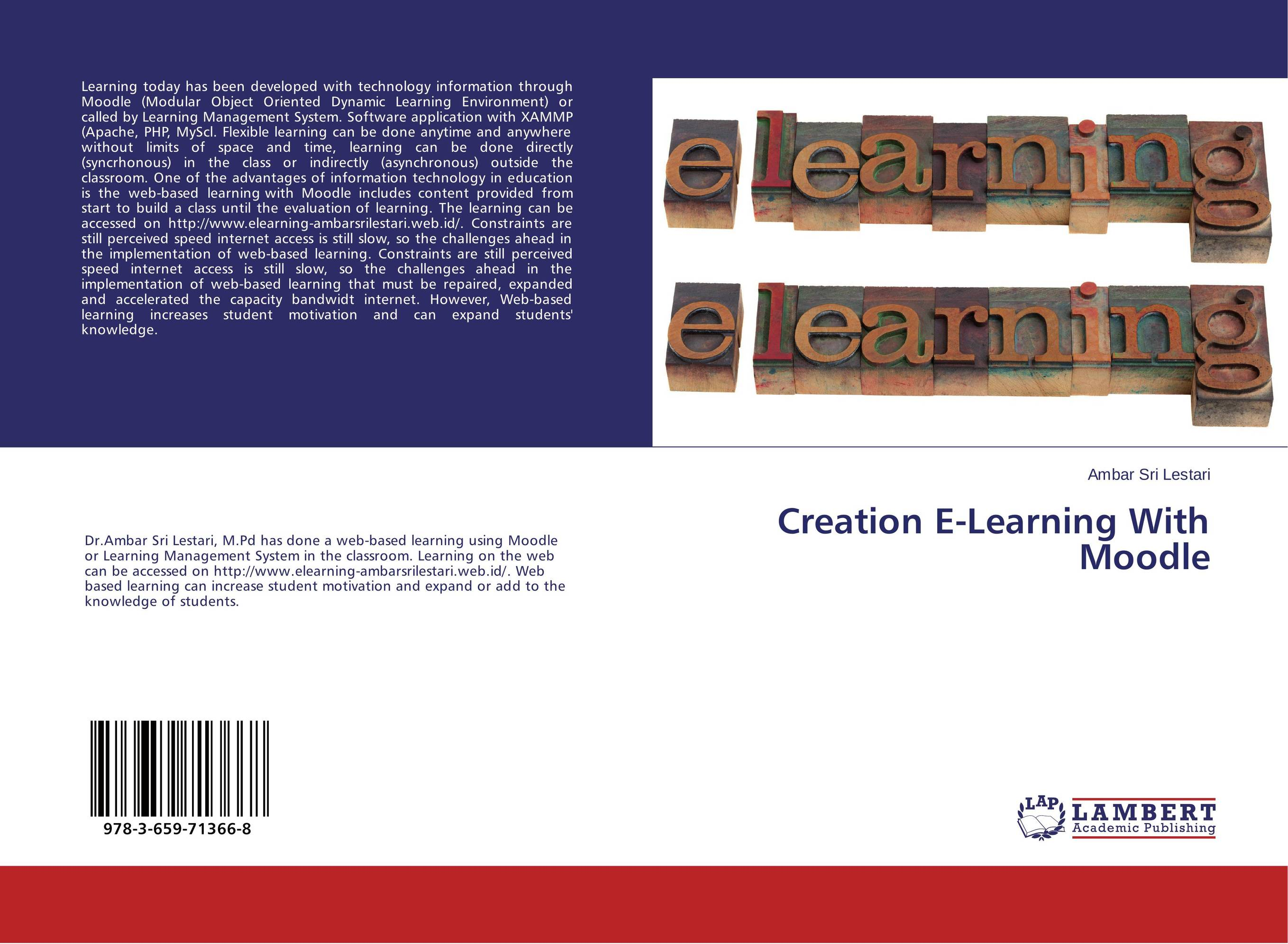 Creation E-Learning With Moodle pso based evolutionary learning