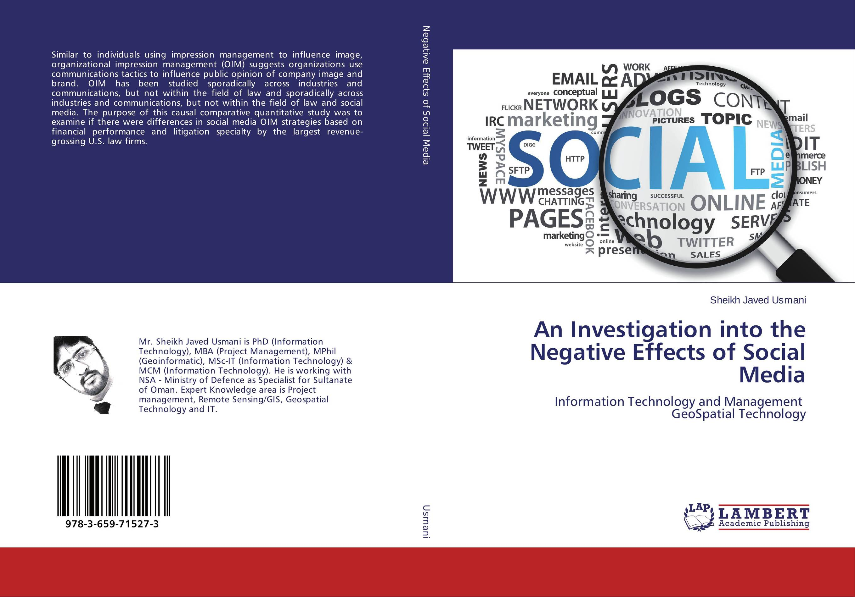 An Investigation into the Negative Effects of Social Media revenue law
