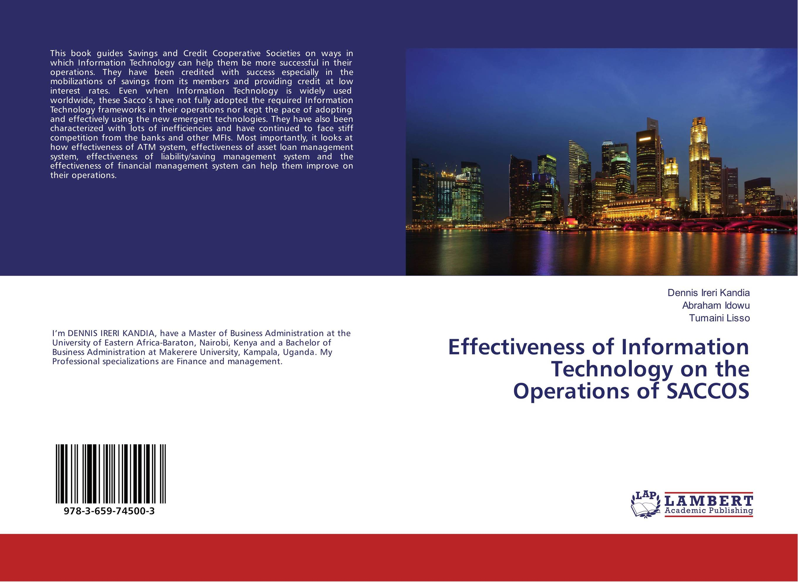 Effectiveness of Information Technology on the Operations of SACCOS computer operations management