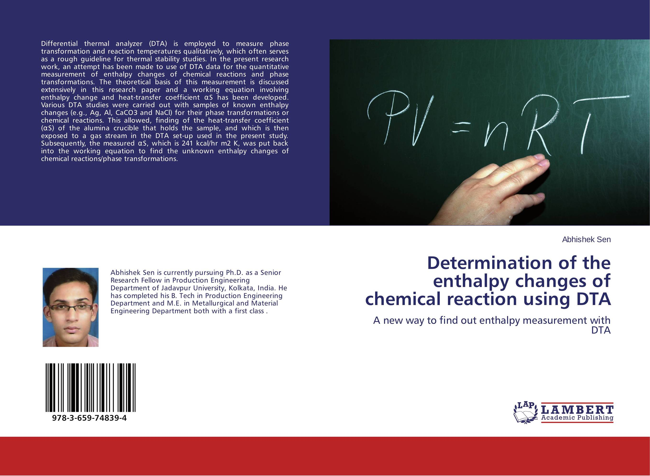 Determination of the enthalpy changes of chemical reaction using DTA