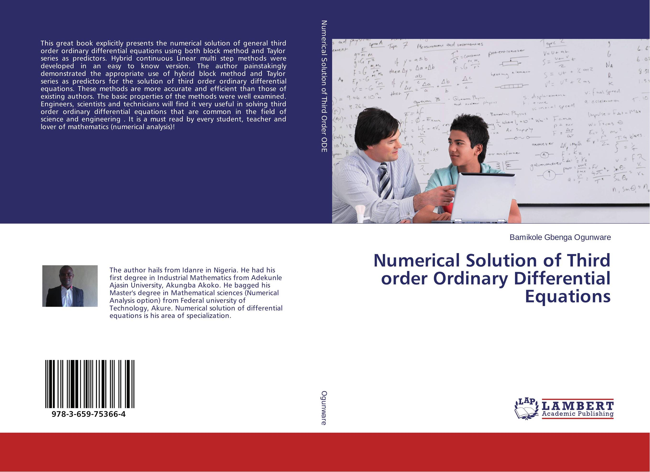 Numerical Solution of Third order Ordinary Differential Equations root and canal morphology of third molar
