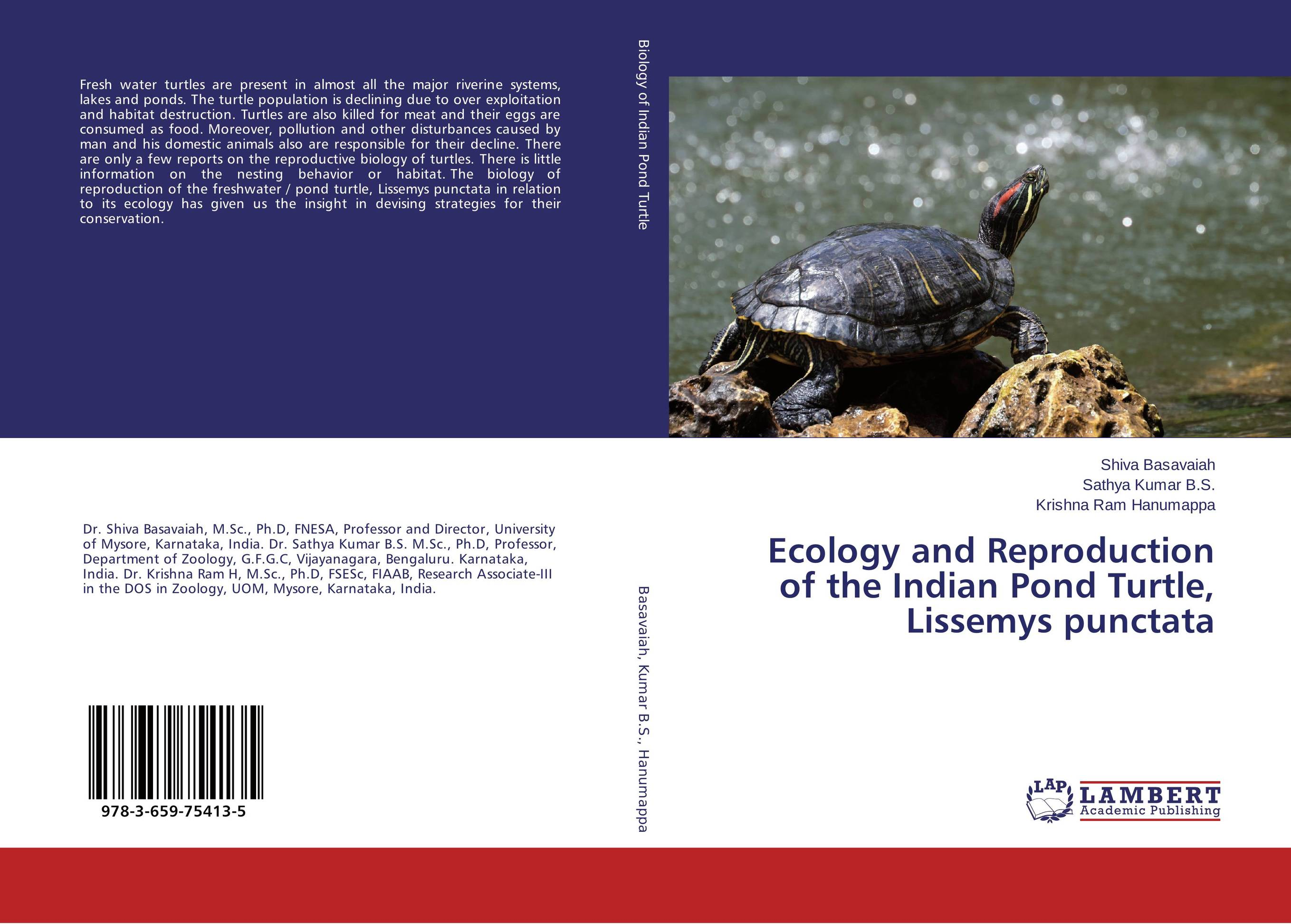 Ecology and Reproduction of the Indian Pond Turtle, Lissemys punctata bruce bridgeman the biology of behavior and mind