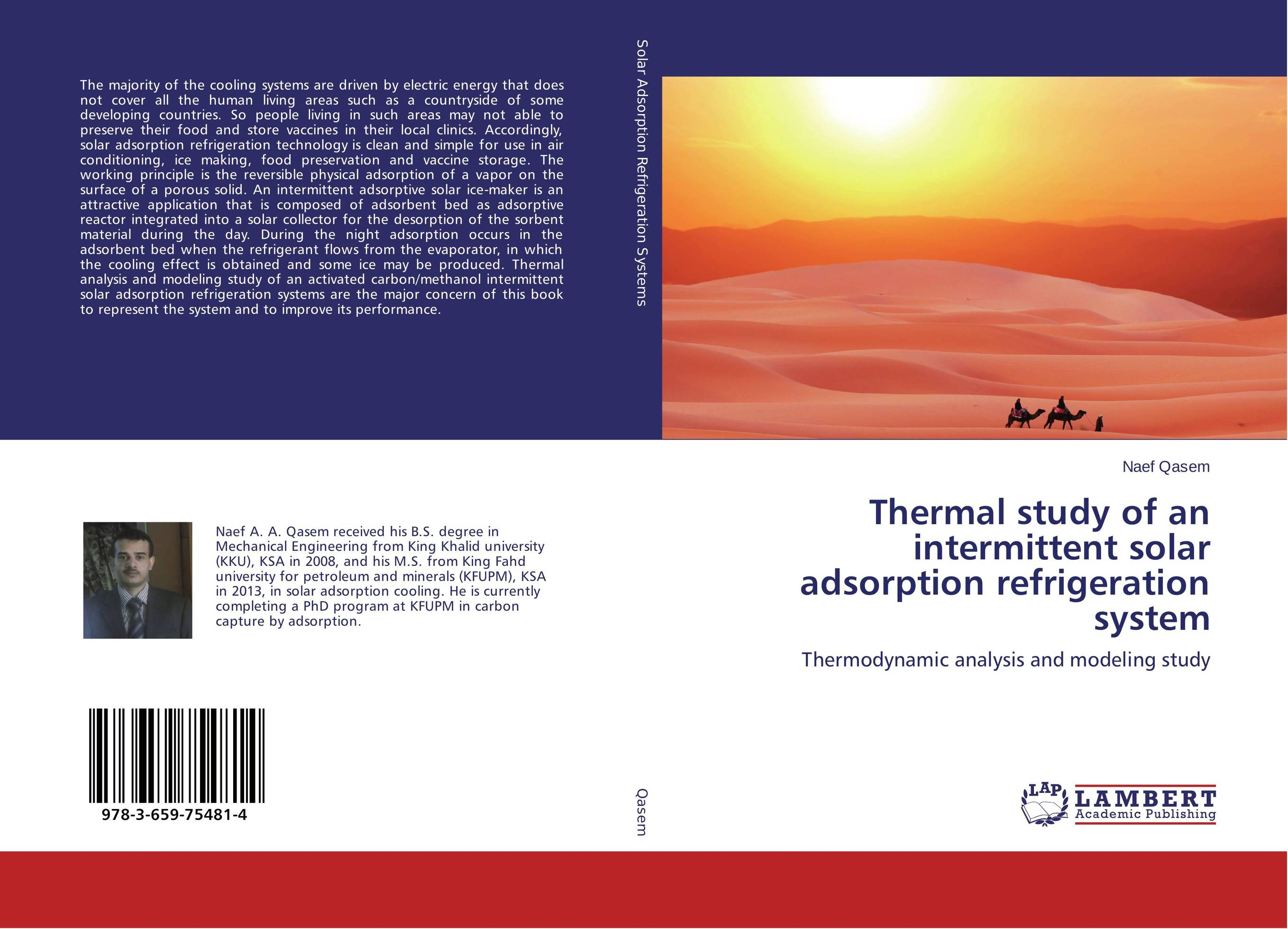 Thermal study of an intermittent solar adsorption refrigeration system