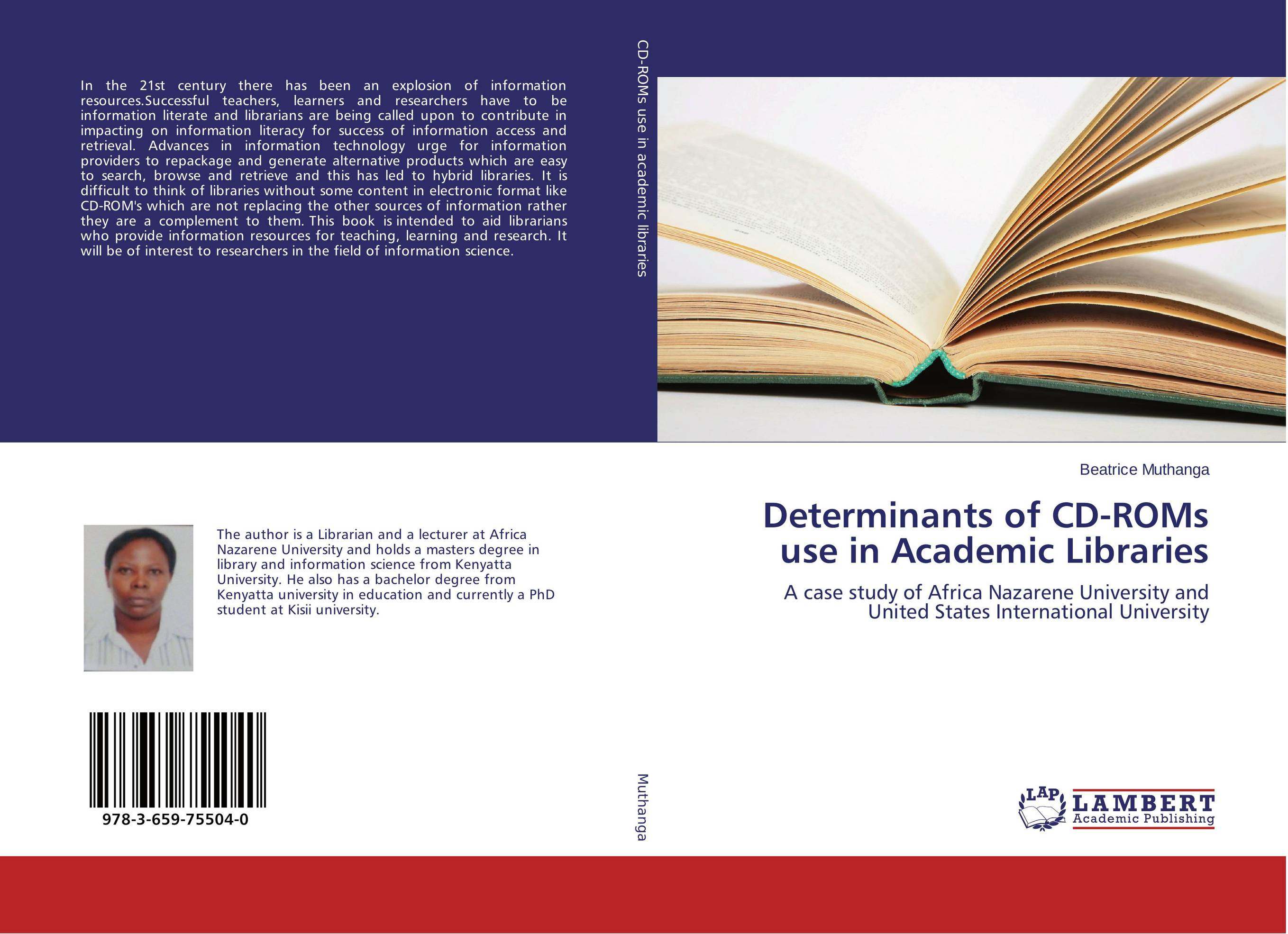 Determinants of CD-ROMs use in Academic Libraries designing of an information retrieval system in veterinary science