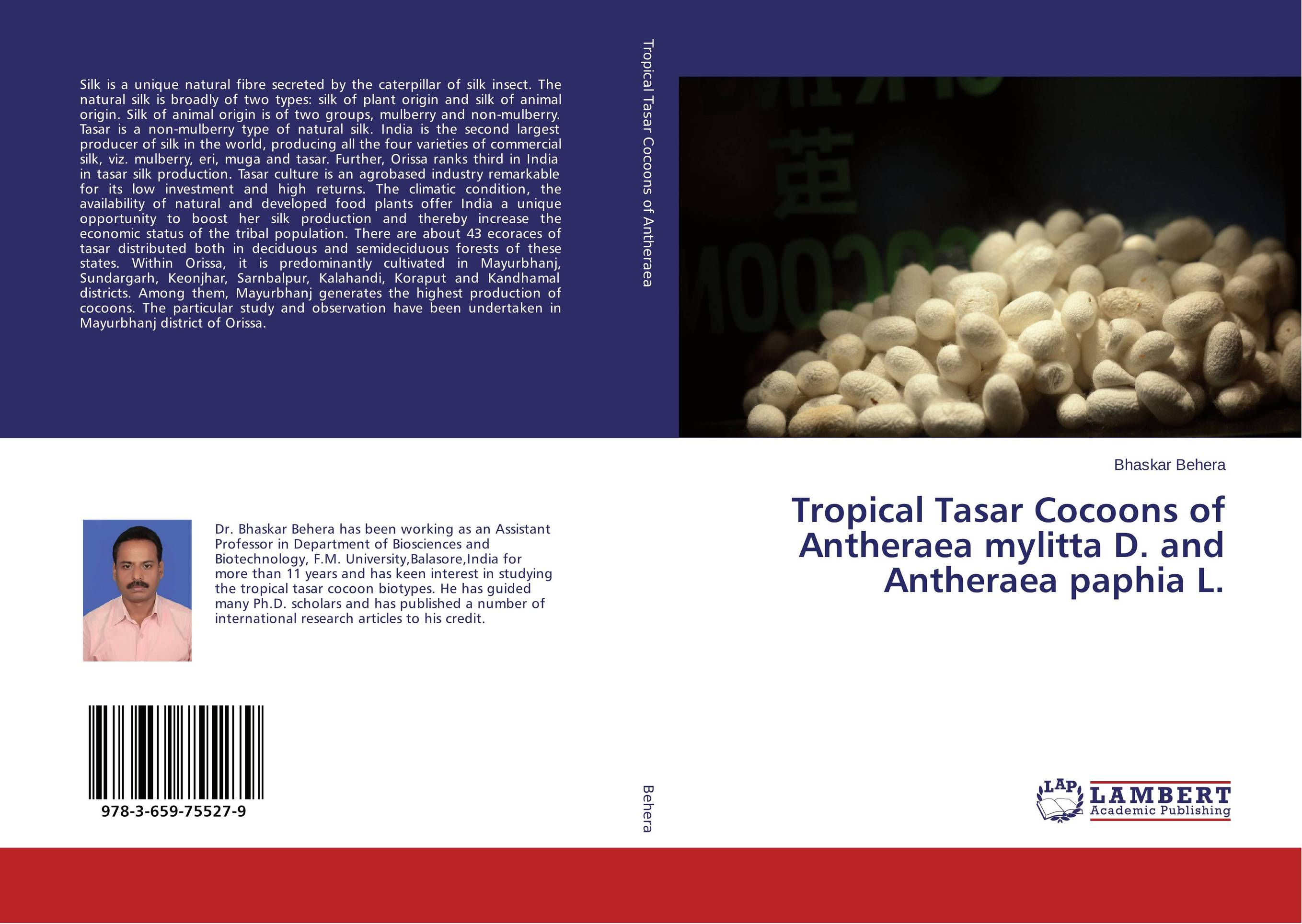 Tropical Tasar Cocoons of Antheraea mylitta D. and Antheraea paphia L. natural enemy fauna in rice wheat system of india