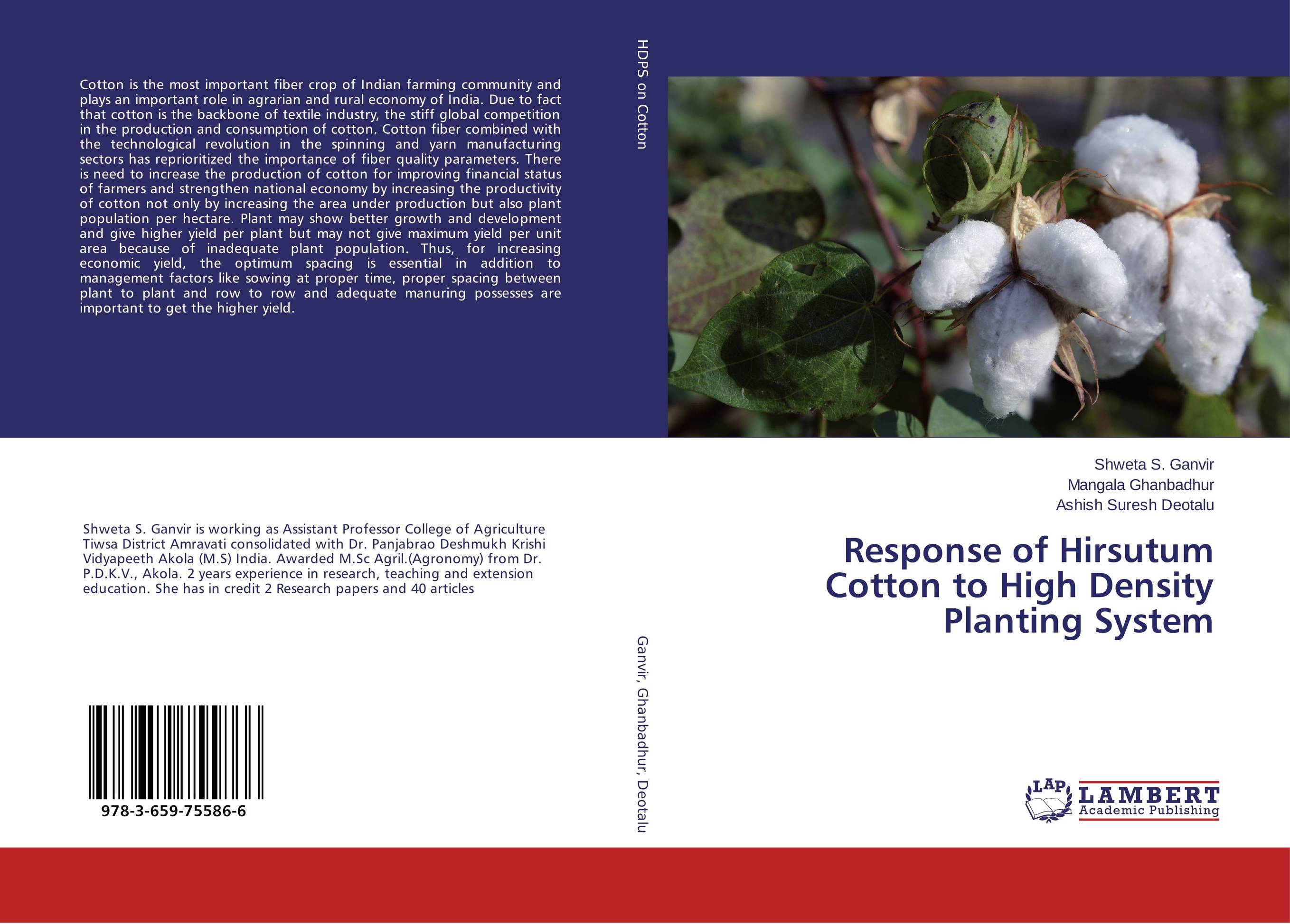 Response of Hirsutum Cotton to High Density Planting System farmers response to integrated plant nutrition system