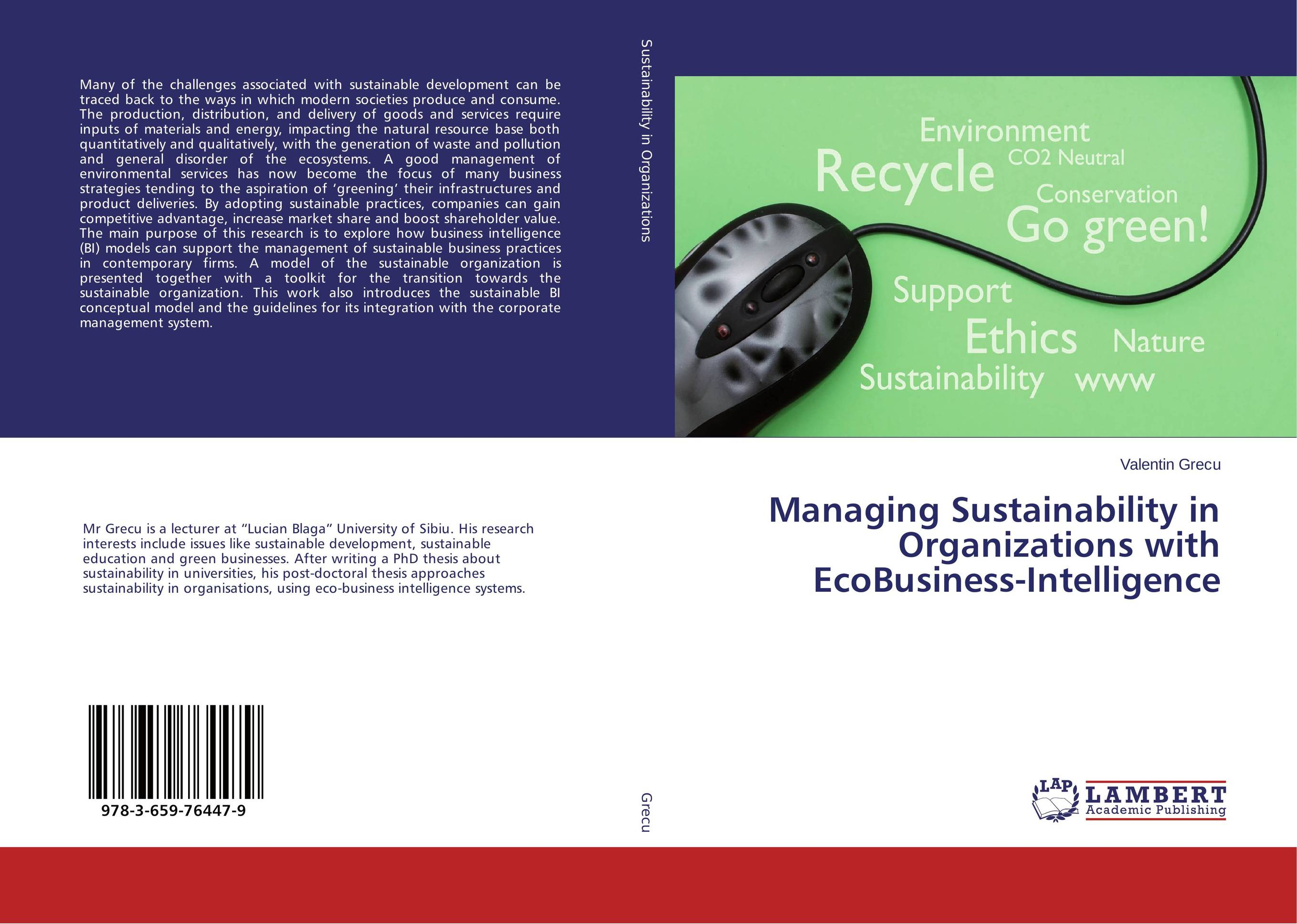 Managing Sustainability in Organizations with EcoBusiness-Intelligence managing projects made simple