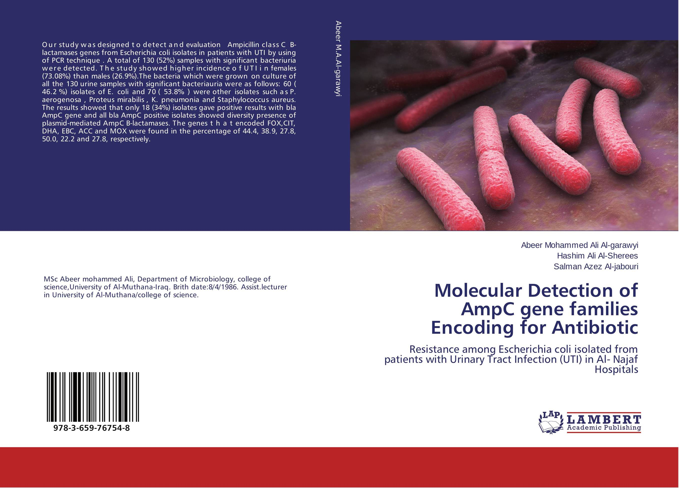 Molecular Detection of AmpC gene families Encoding for Antibiotic in situ detection of dna damage methods and protocols