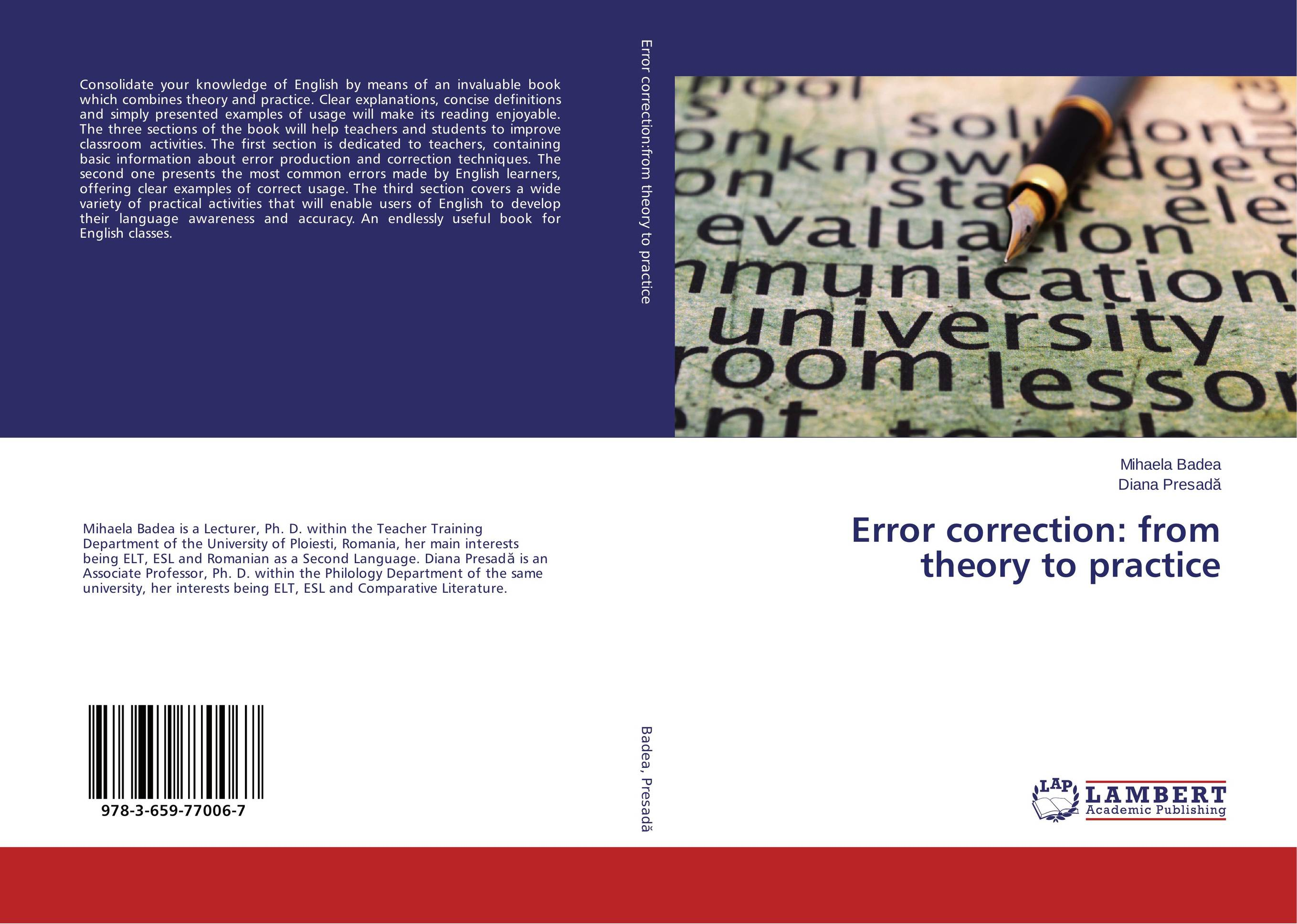 Error correction: from theory to practice english prepositional errors