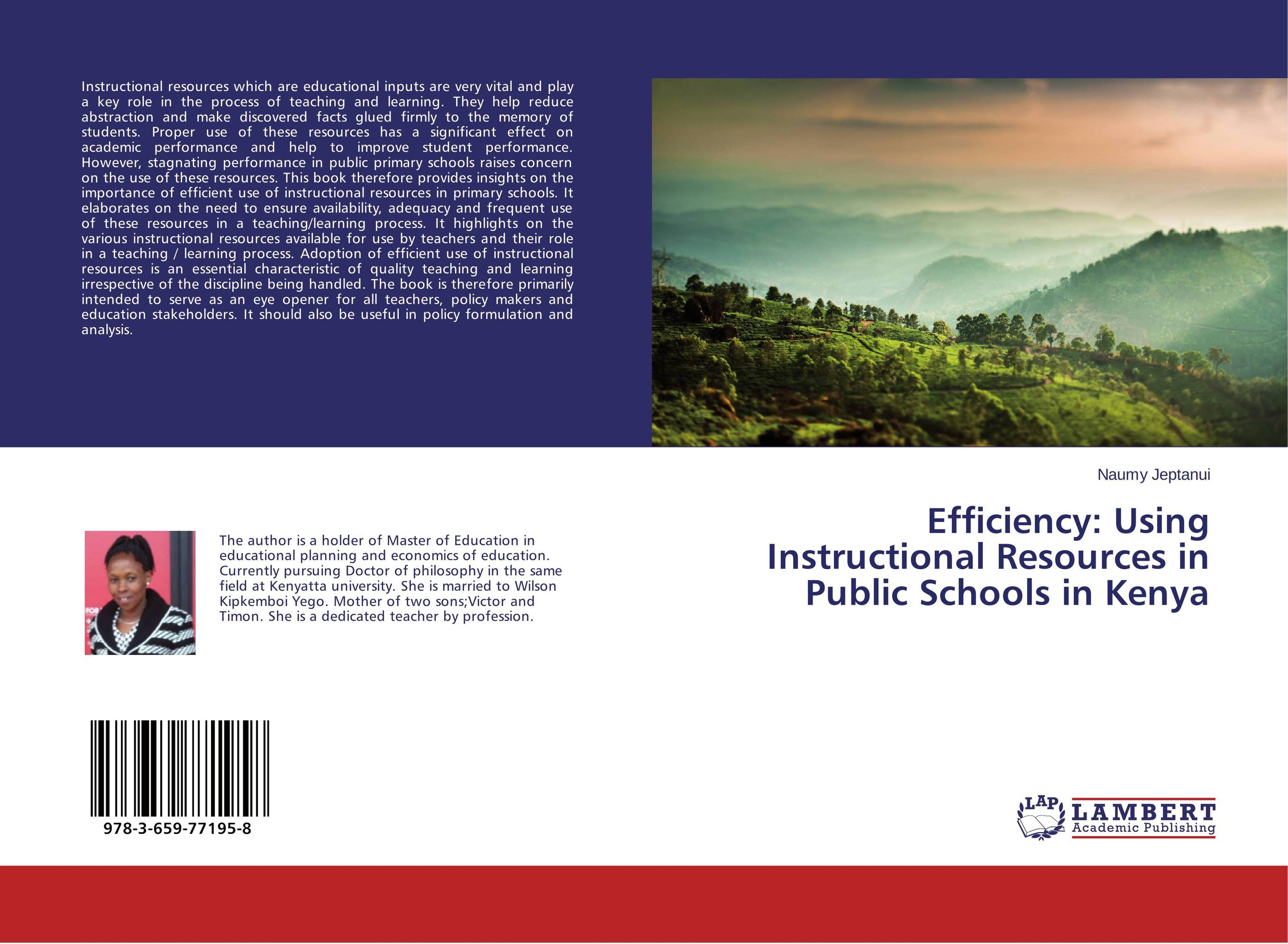 купить Efficiency: Using Instructional Resources in Public Schools in Kenya недорого
