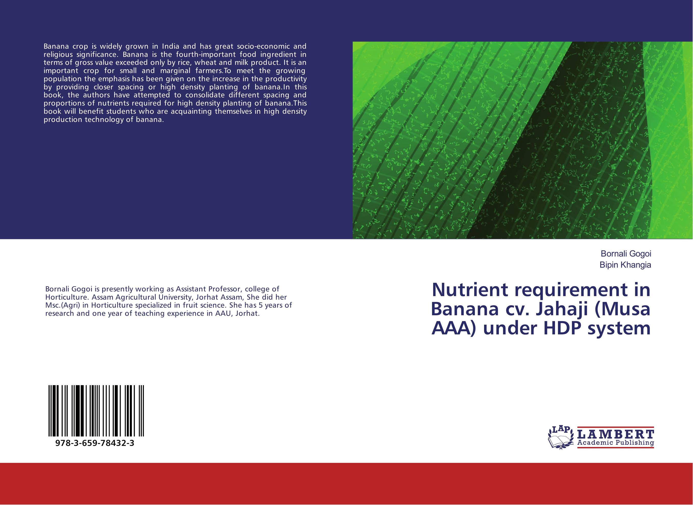 Nutrient requirement in Banana cv. Jahaji (Musa AAA) under HDP system natural enemy fauna in rice wheat system of india