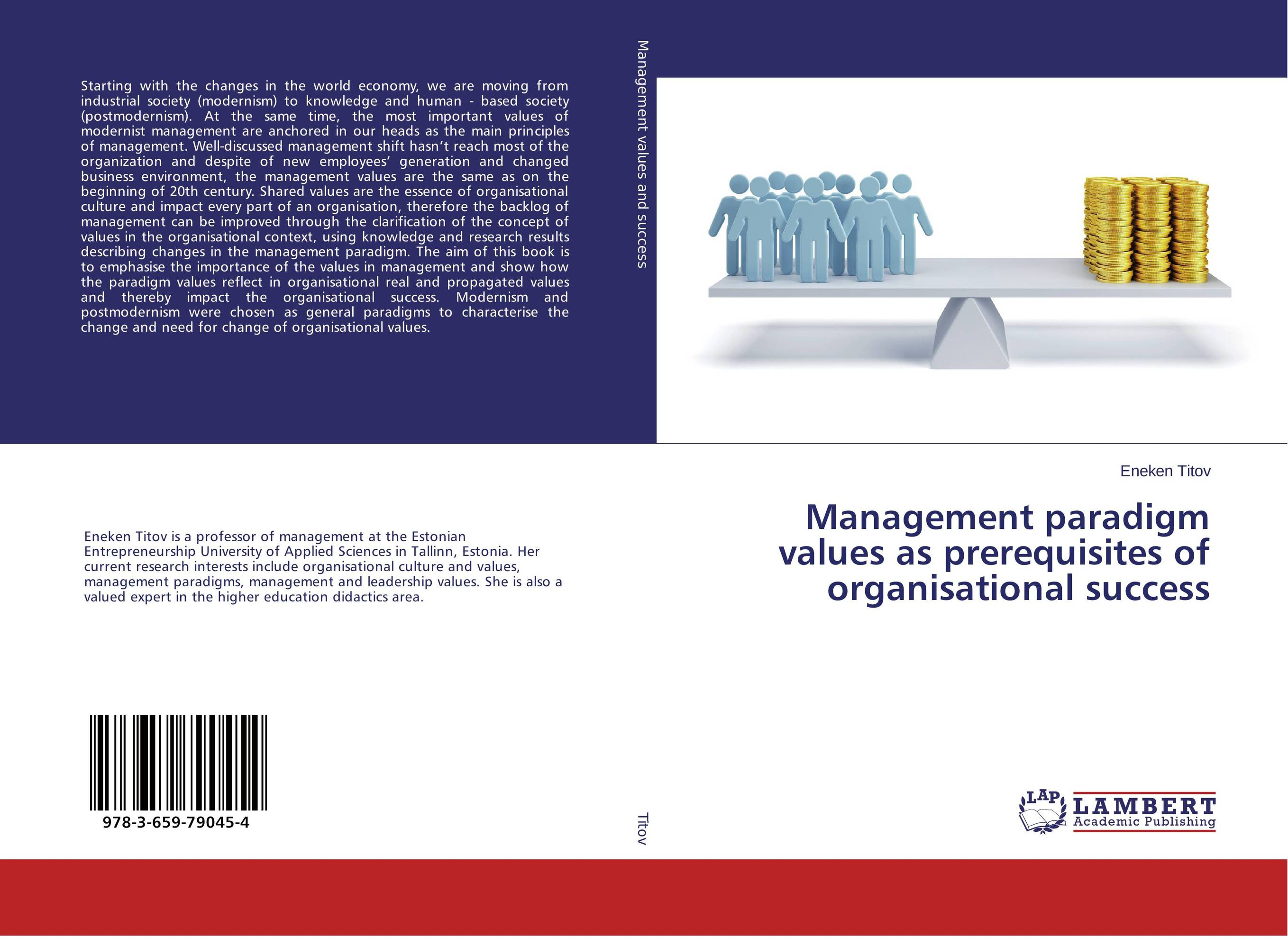Management paradigm values as prerequisites of organisational success women and rationale values