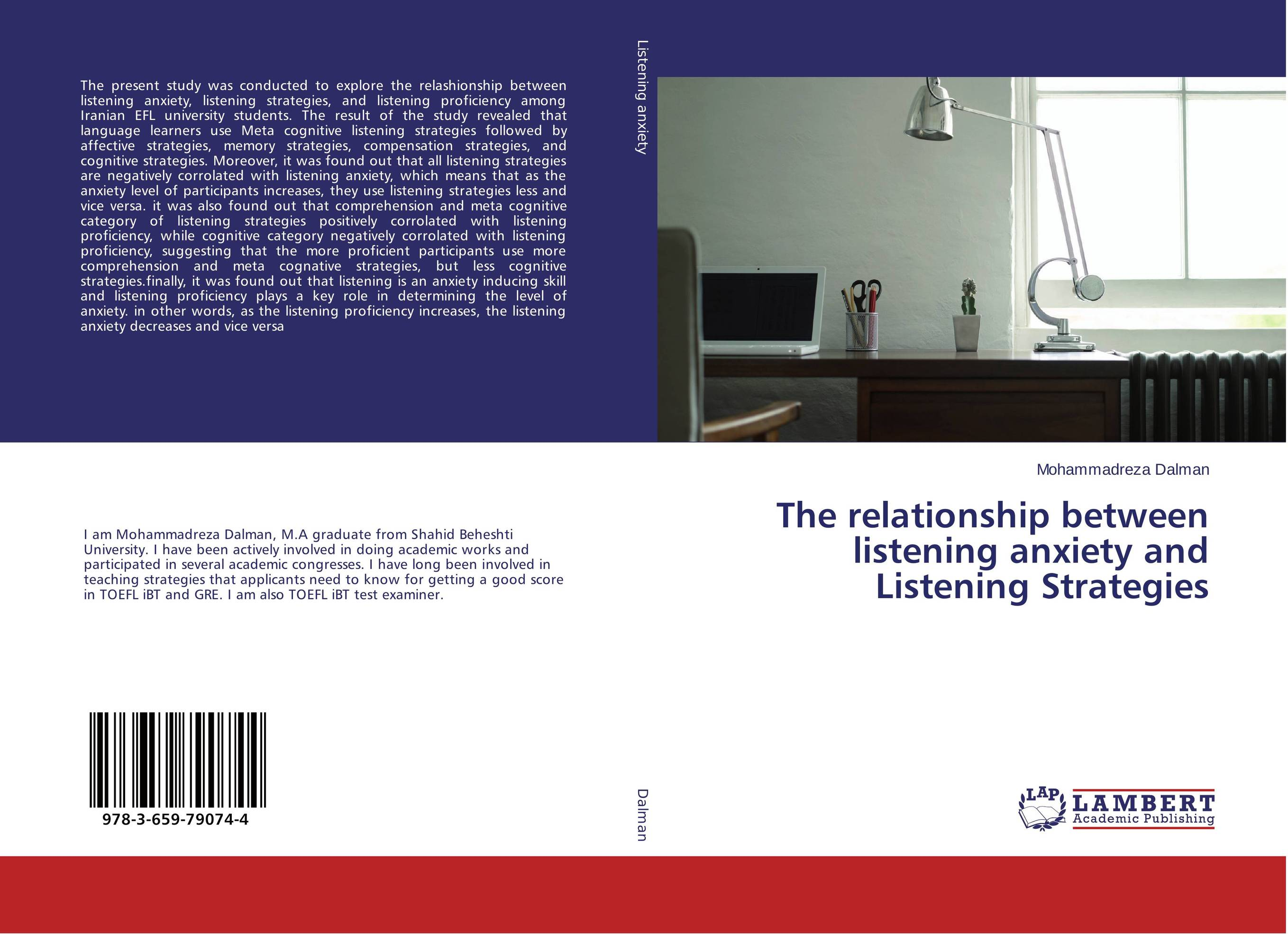 The relationship between listening anxiety and Listening Strategies stefan hofmann g psychobiological approaches for anxiety disorders treatment combination strategies