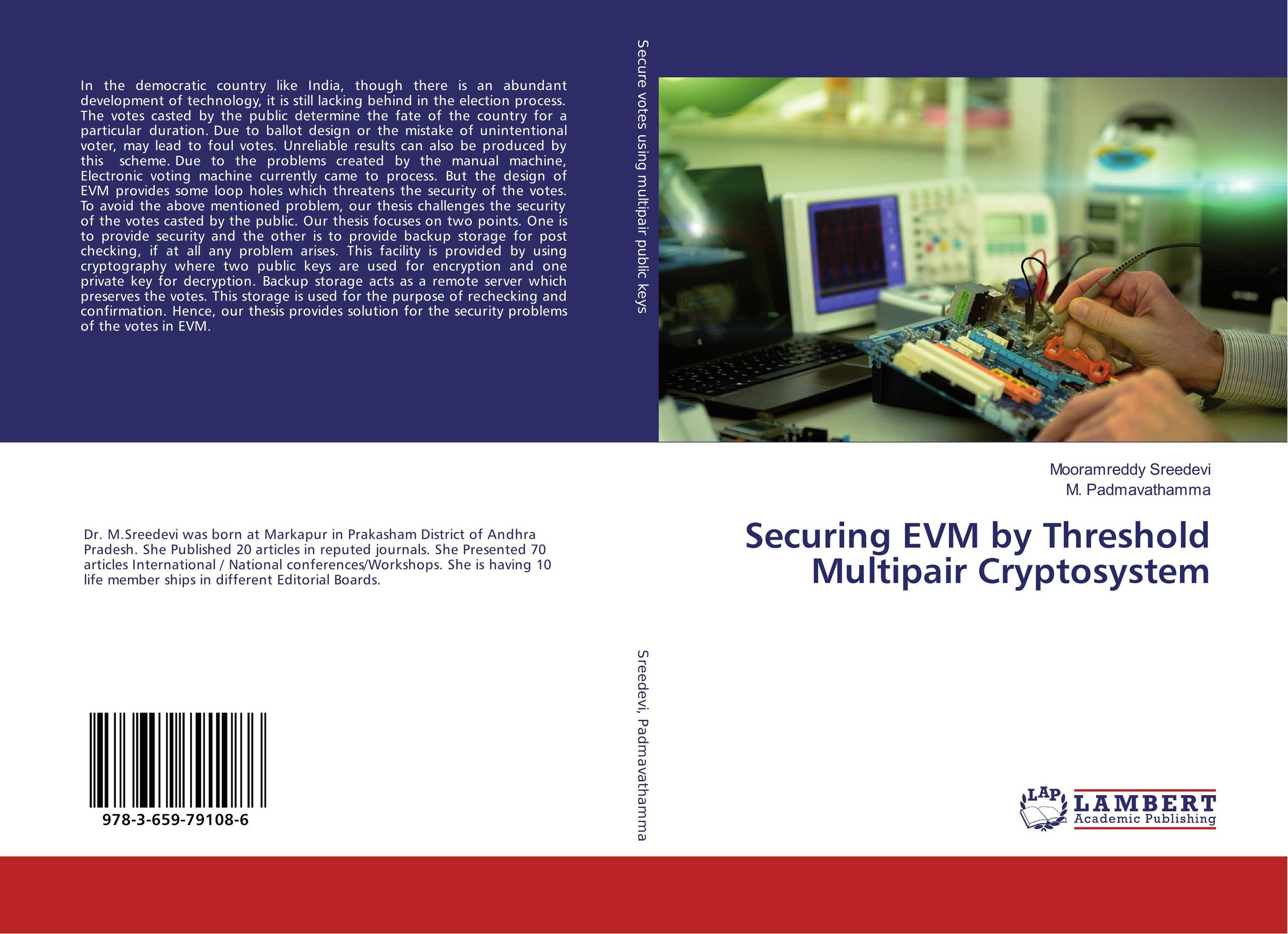 Securing EVM by Threshold Multipair Cryptosystem