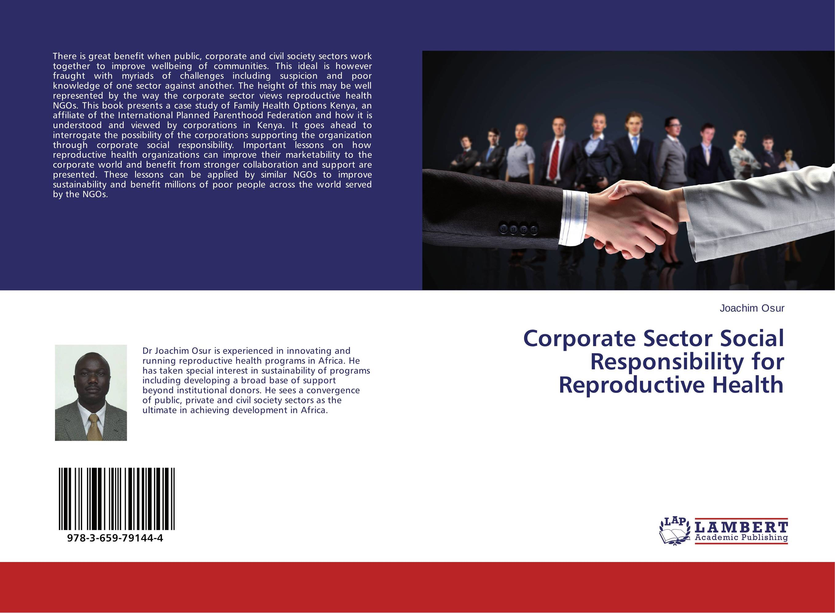 Corporate Sector Social Responsibility for Reproductive Health ngos