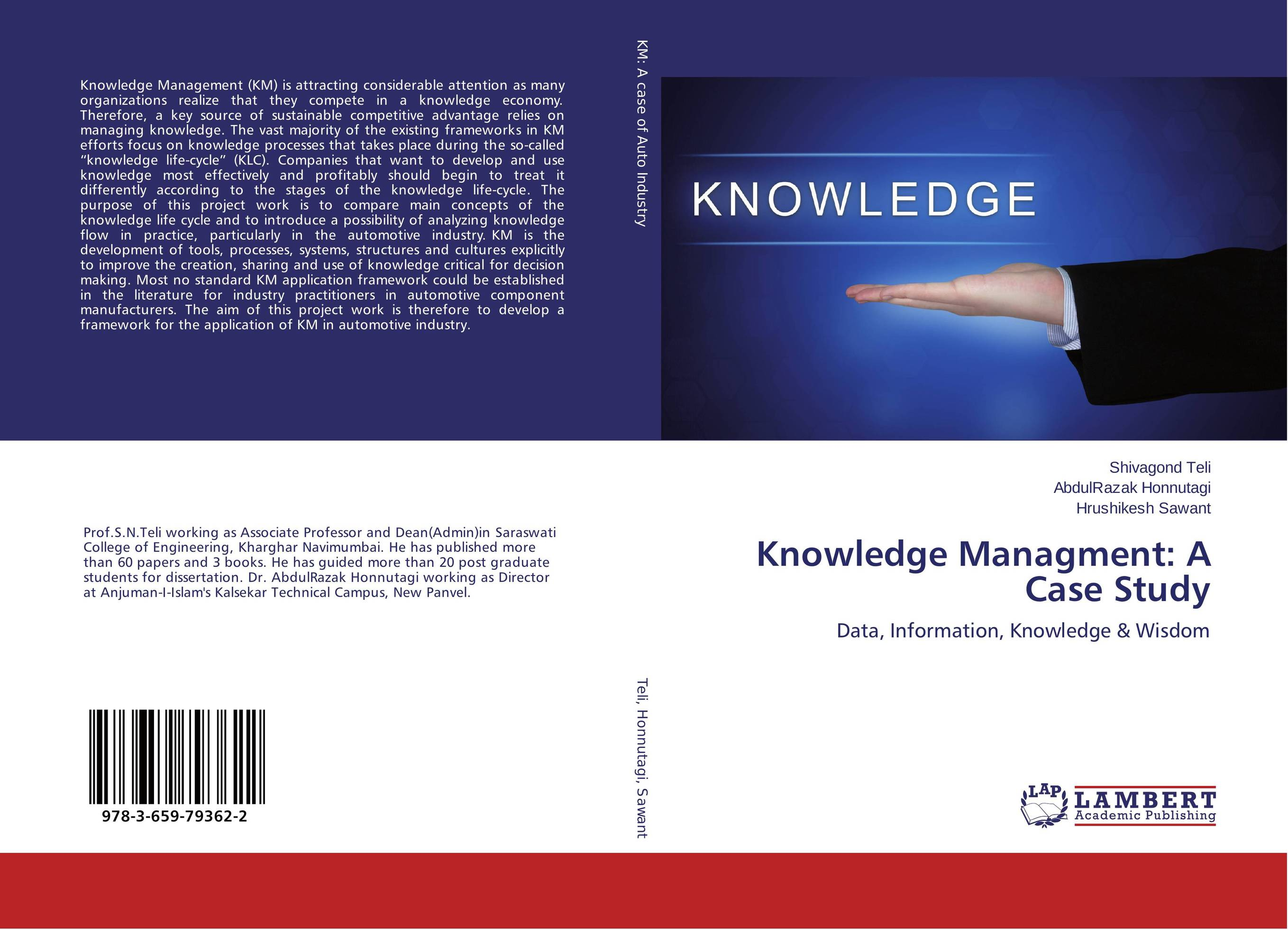 Knowledge Managment: A Case Study key of knowledge