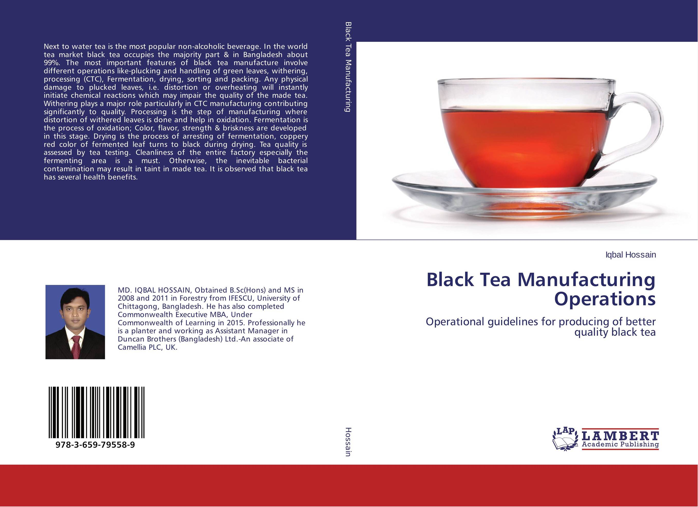 Black Tea Manufacturing Operations effect of drying methods on biochemical composition of black tea