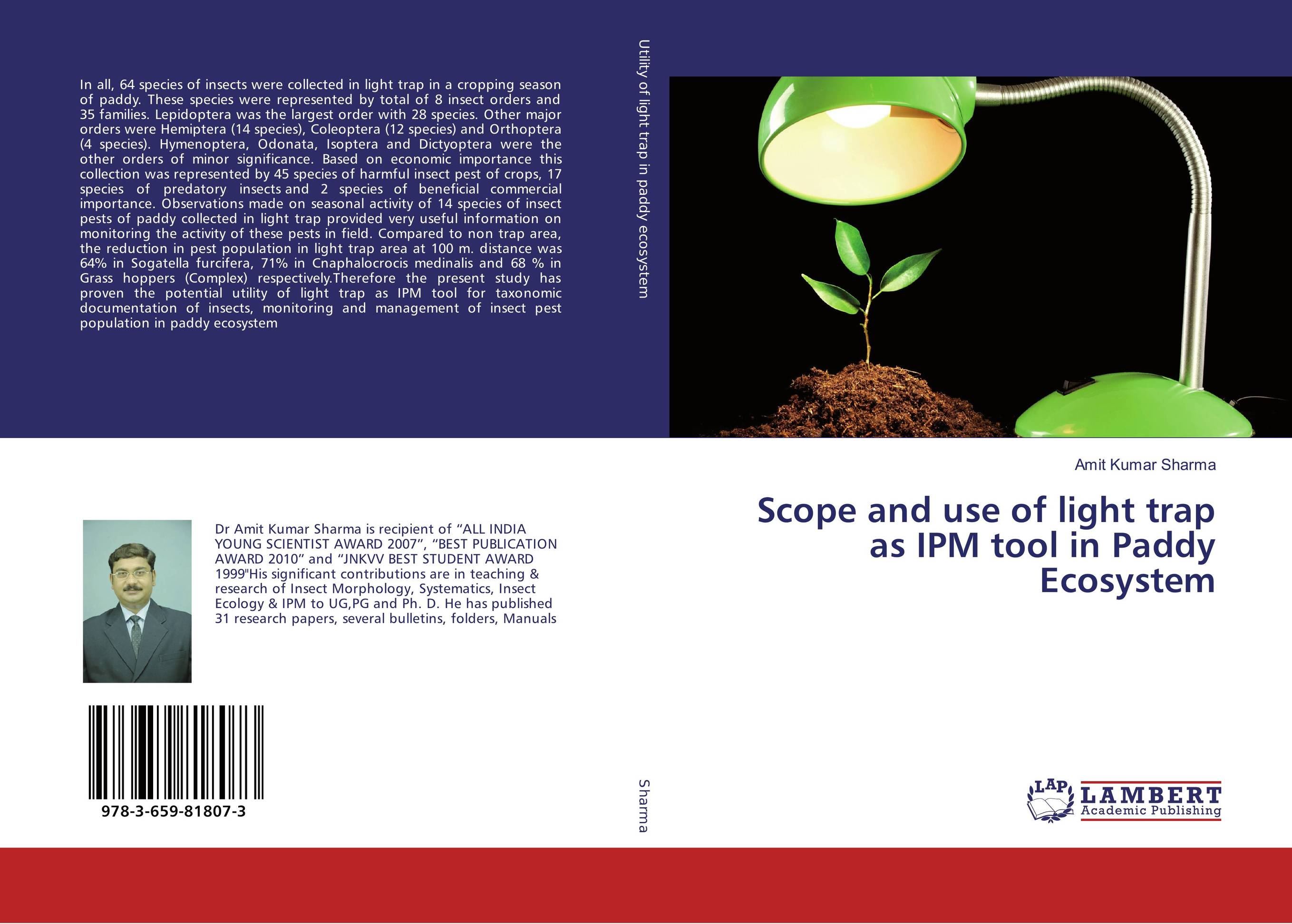 Scope and use of light trap as IPM tool in Paddy Ecosystem anatomical studies on species of subfamily stachyoideae lamiaceae