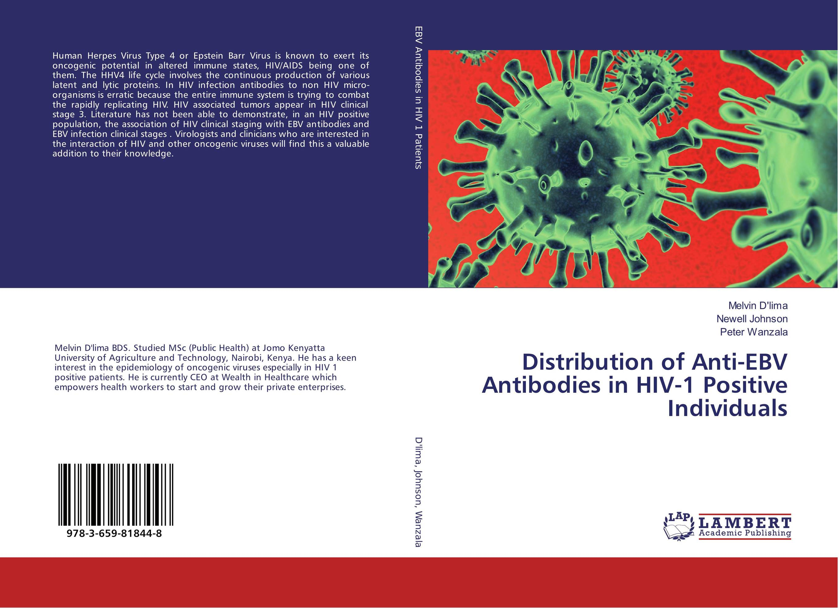 Distribution of Anti-EBV Antibodies in HIV-1 Positive Individuals the johns hopkins hospital 1998 1999 guide to medical care of patients with hiv infection