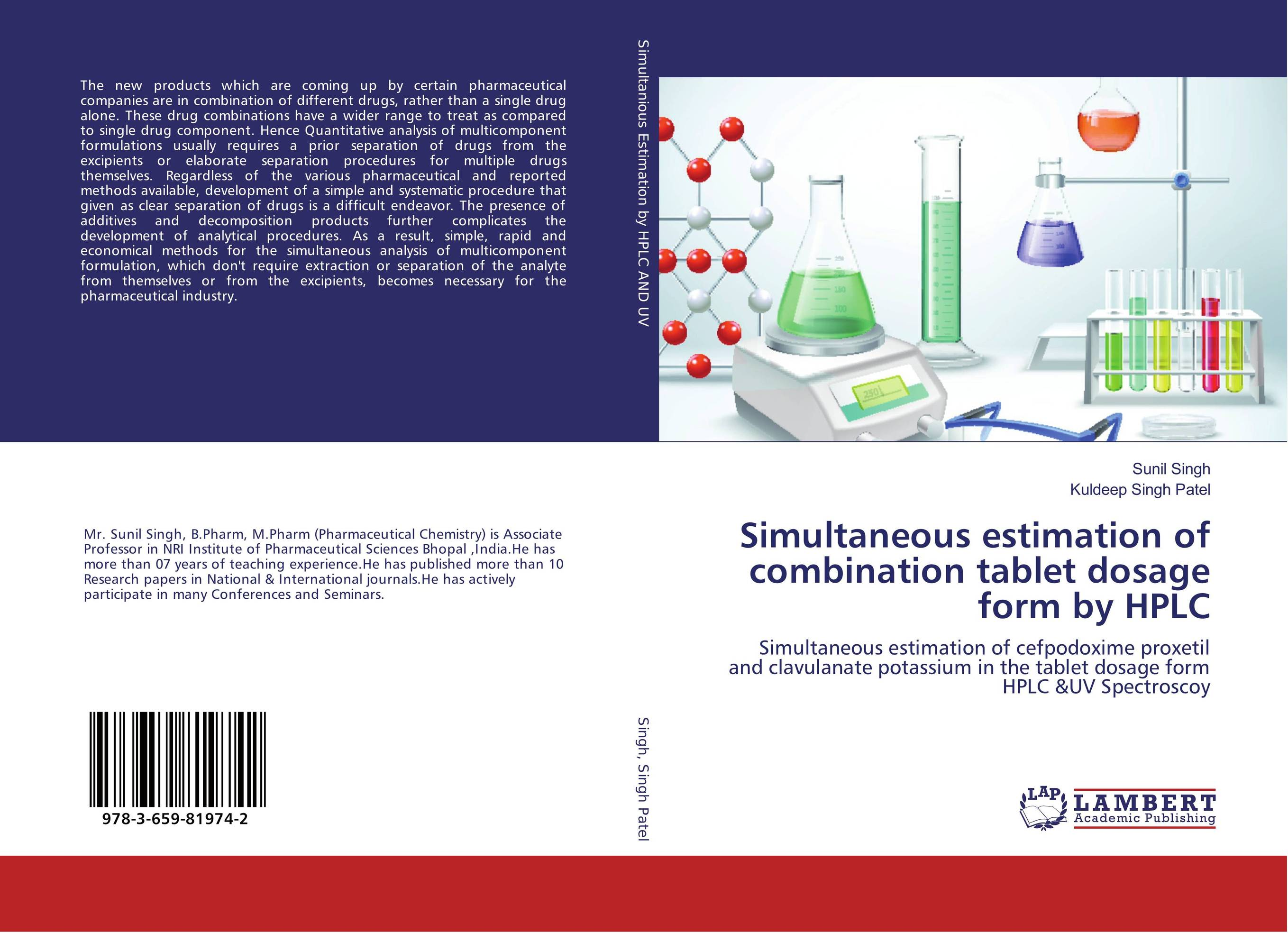 Simultaneous estimation of combination tablet dosage form by HPLC купить