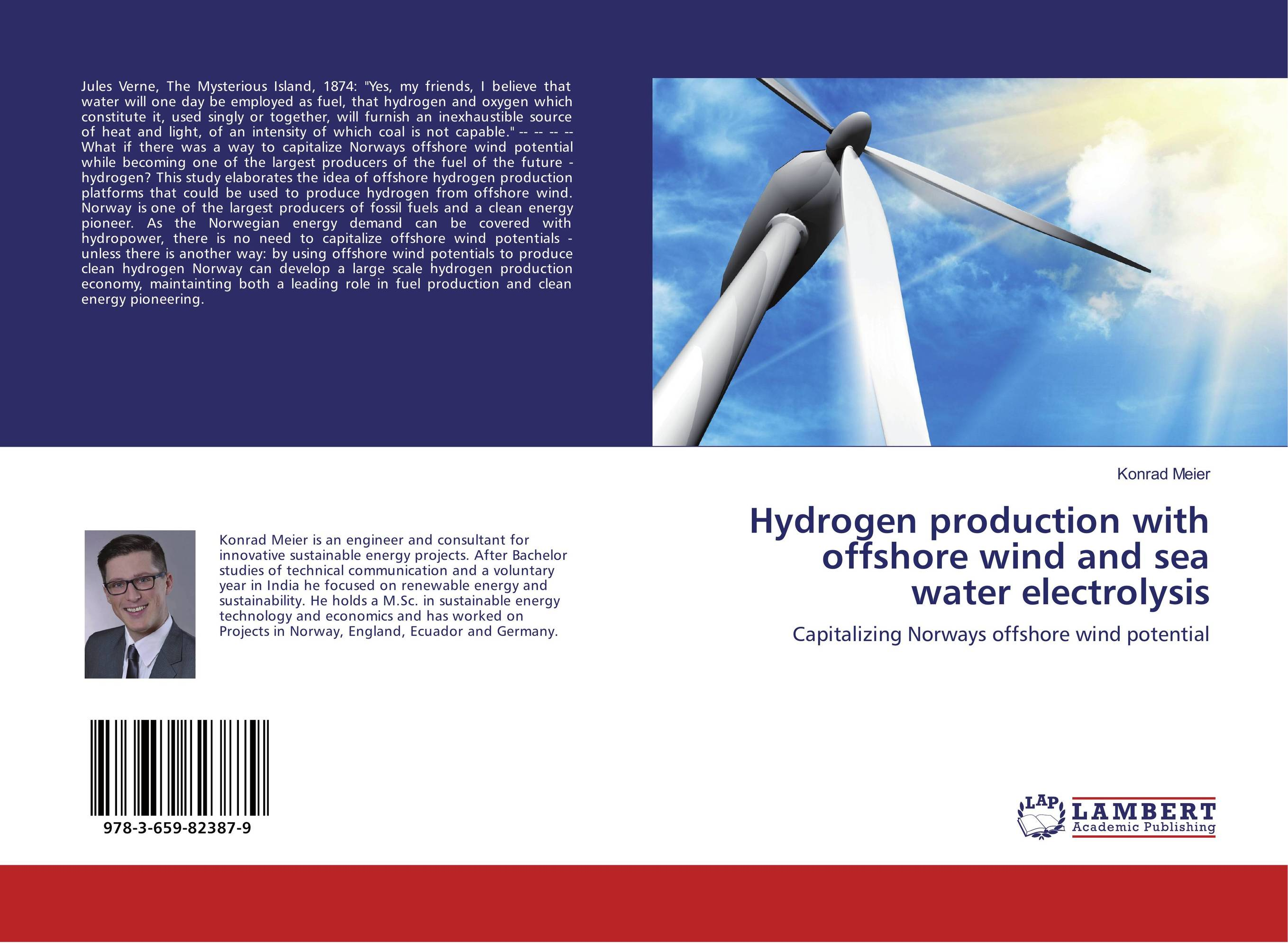 Hydrogen production with offshore wind and sea water electrolysis offshore