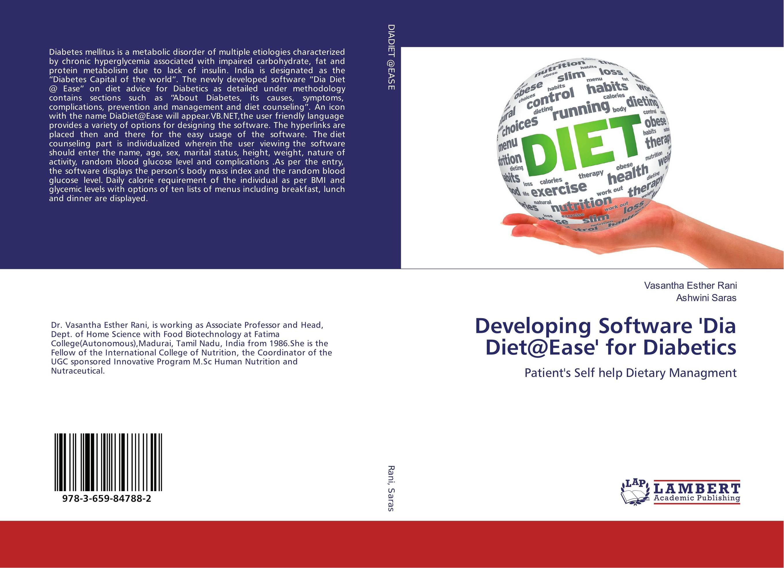 Developing Software 'Dia Diet@Ease' for Diabetics