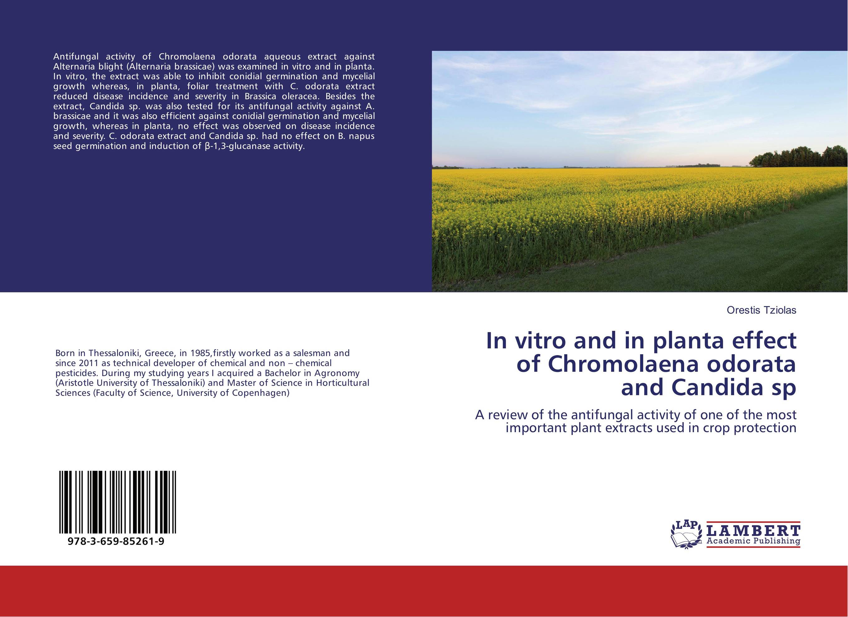 In vitro and in planta effect of Chromolaena odorata and Candida sp effect of plant extracts on alternaria brassicae in mustard