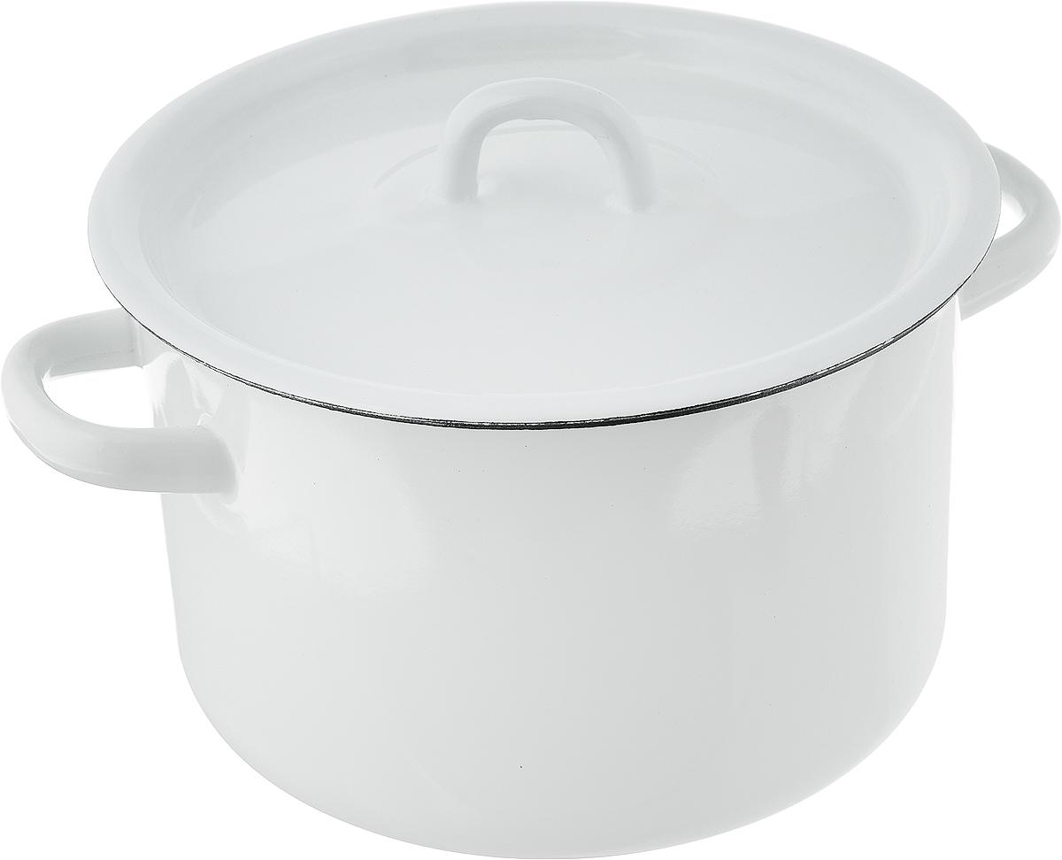 """Кастрюля эмалированная """"Эмаль"""" выполнена из высококачественного стального проката, покрытого жаропрочной эмалью. Такое покрытие защищает сталь от коррозии, придает посуде гладкую стекловидную поверхность и надежно защищает от кислот и щелочей. Посуда снабжена удобными ручками и крышкой. Подходит для всех типов плит, включая индукционные. Ширина (с учетом ручек): 24 см. Высота стенки: 12,5 см."""