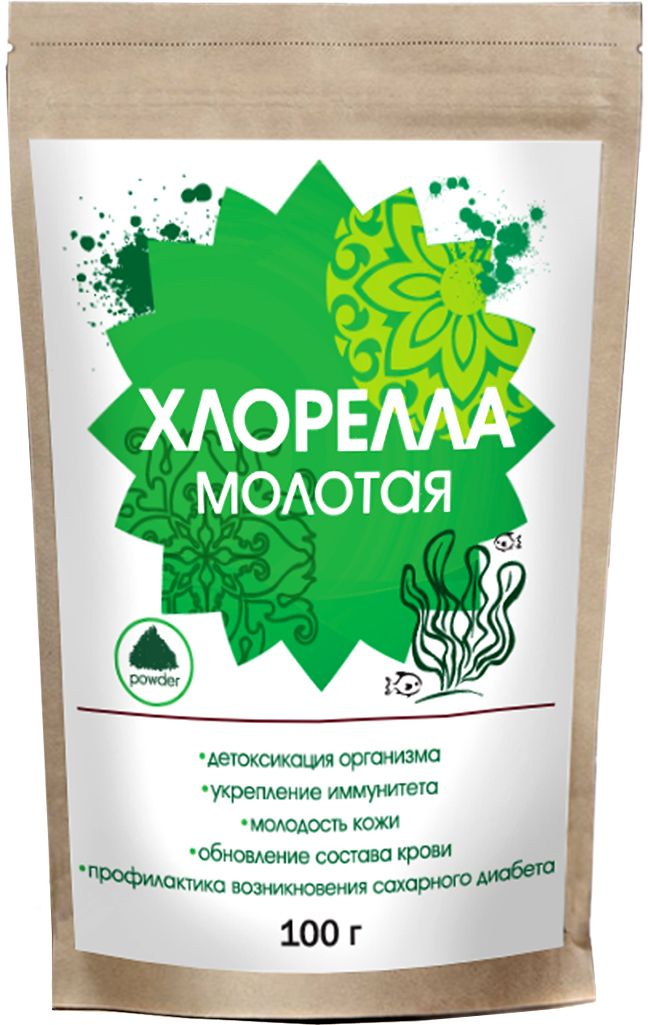 Greenbuffet хлорелла молотая, 100 г