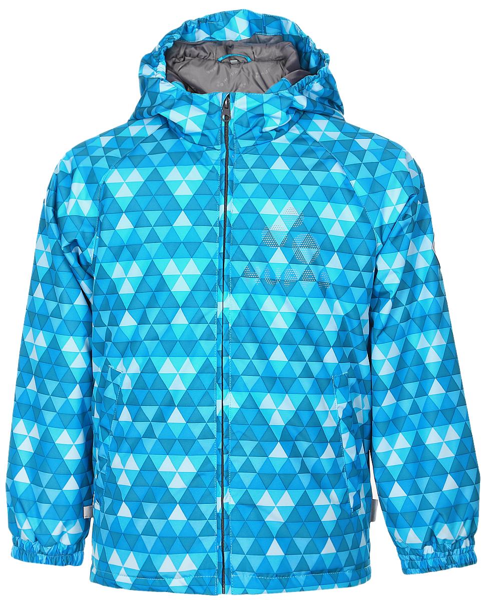 Куртка детская Huppa Classy 1, цвет: бирюзовый, голубой. 17710010-636. Размер 12217710010-636Детская куртка Huppa изготовлена из водонепроницаемого полиэстера. Куртка с капюшоном застегивается на пластиковую застежку-молнию с защитой подбородка. Высокотехнологичный лёгкий синтетический утеплитель нового поколения сохраняет объём и высокую теплоизоляцию изделия. Края капюшона и рукавов собраны на внутренние резинки. У модели имеются два врезных кармана. Изделие дополнено светоотражающими элементами.Выдерживает температуру до -5°C.