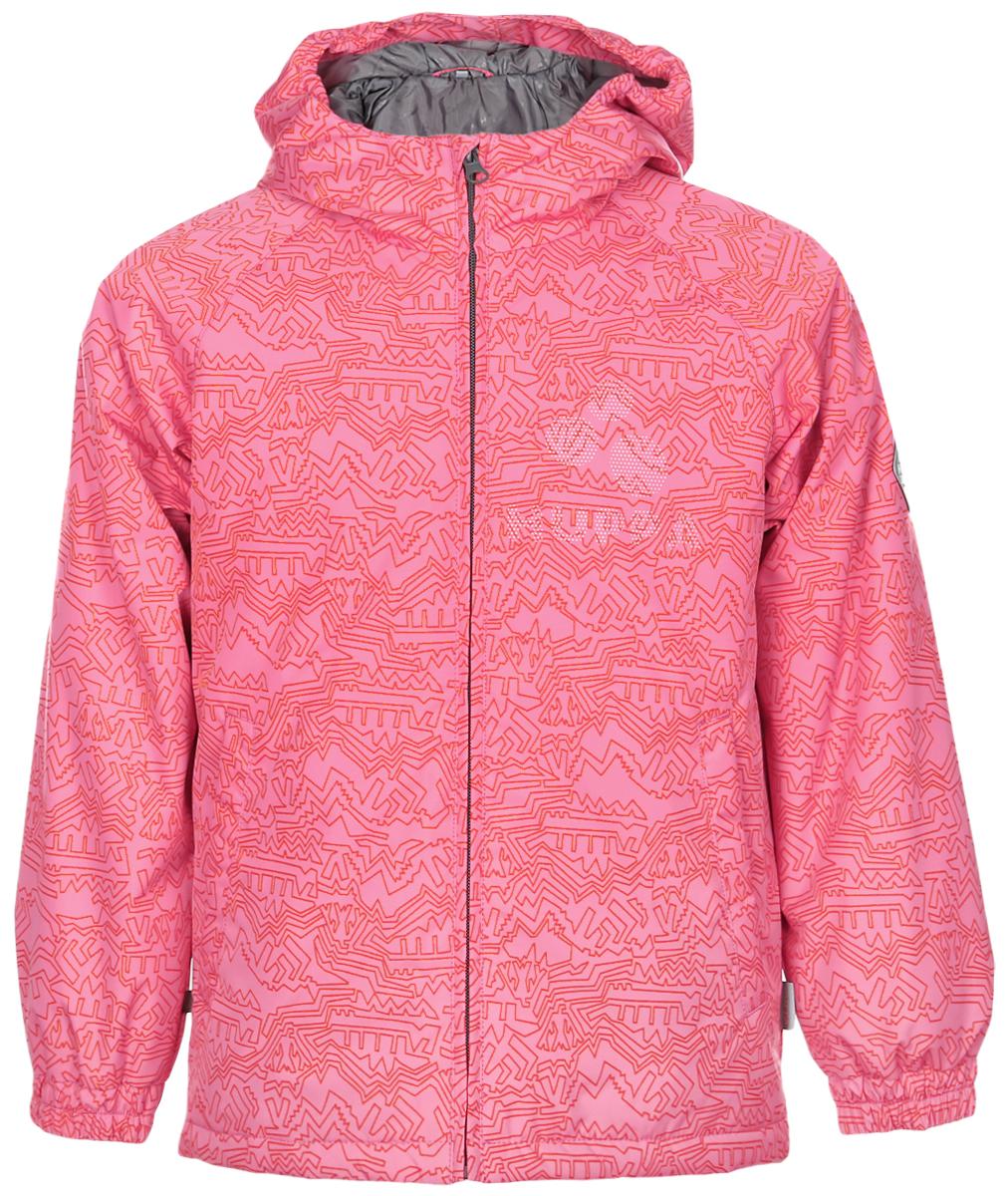 Куртка детская Huppa Classy 1, цвет: розовый. 17710010-913. Размер 15217710010-913Детская куртка Huppa изготовлена из водонепроницаемого полиэстера. Куртка с капюшоном застегивается на пластиковую застежку-молнию с защитой подбородка. Высокотехнологичный лёгкий синтетический утеплитель нового поколения сохраняет объём и высокую теплоизоляцию изделия. Края капюшона и рукавов собраны на внутренние резинки. У модели имеются два врезных кармана. Изделие дополнено светоотражающими элементами.Выдерживает температуру до -5°C.