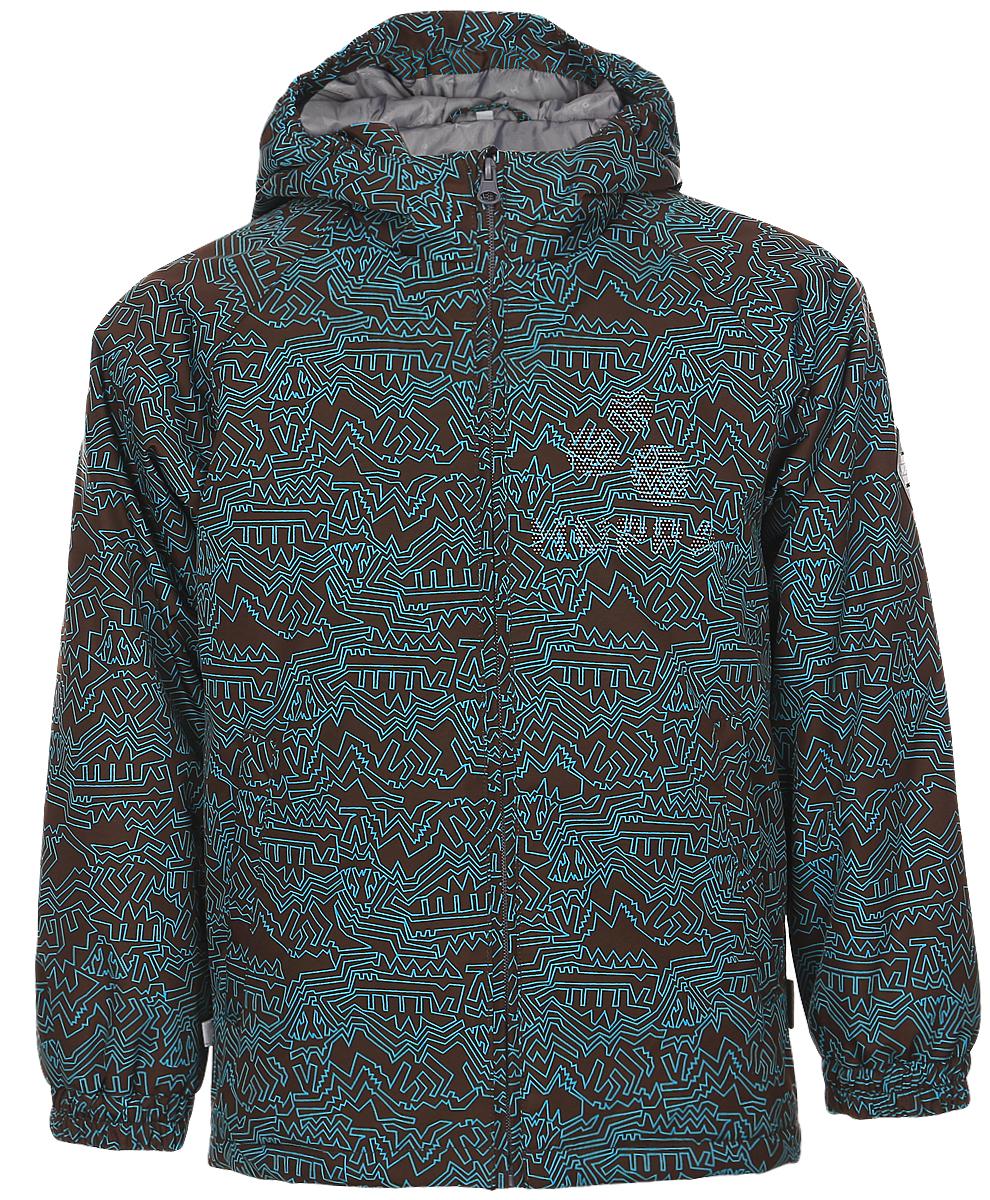 Куртка детская Huppa Classy 1, цвет: коричневый, бирюзовый. 17710010-921. Размер 15217710010-921Детская куртка Huppa изготовлена из водонепроницаемого полиэстера. Куртка с капюшоном застегивается на пластиковую застежку-молнию с защитой подбородка. Высокотехнологичный лёгкий синтетический утеплитель нового поколения сохраняет объём и высокую теплоизоляцию изделия. Края капюшона и рукавов собраны на внутренние резинки. У модели имеются два врезных кармана. Изделие дополнено светоотражающими элементами.Выдерживает температуру до -5°C.