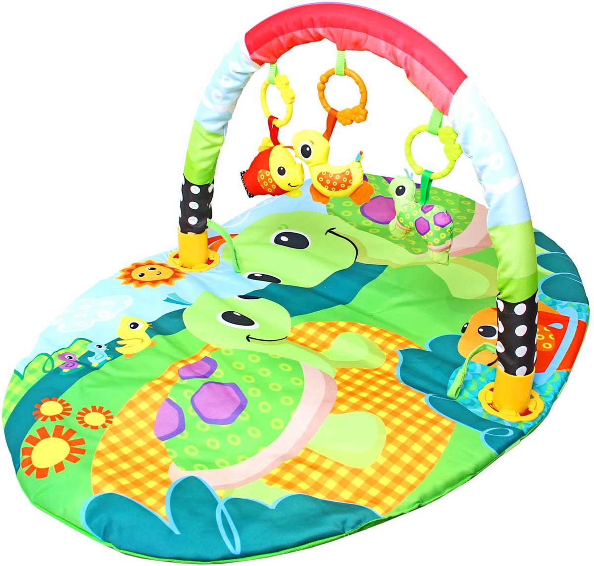 Ути-Пути Развивающий коврик Веселые черепашки игровой коврик умка квадратный с мягкими игрушками на подвеске