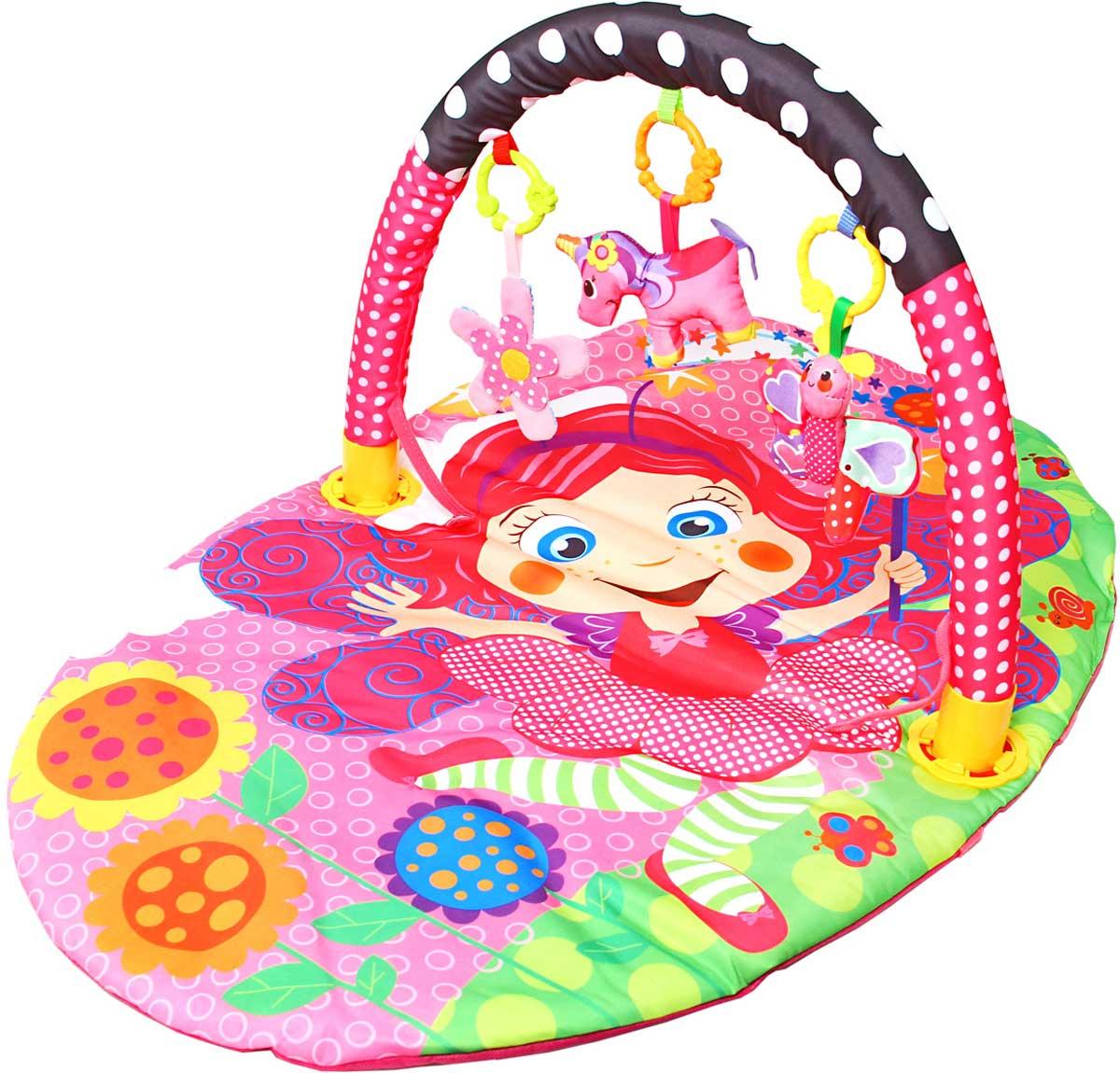 Ути-Пути Развивающий коврик Цветочная принцесса шезлонги детские ути пути шезлонг веселый динозаврик